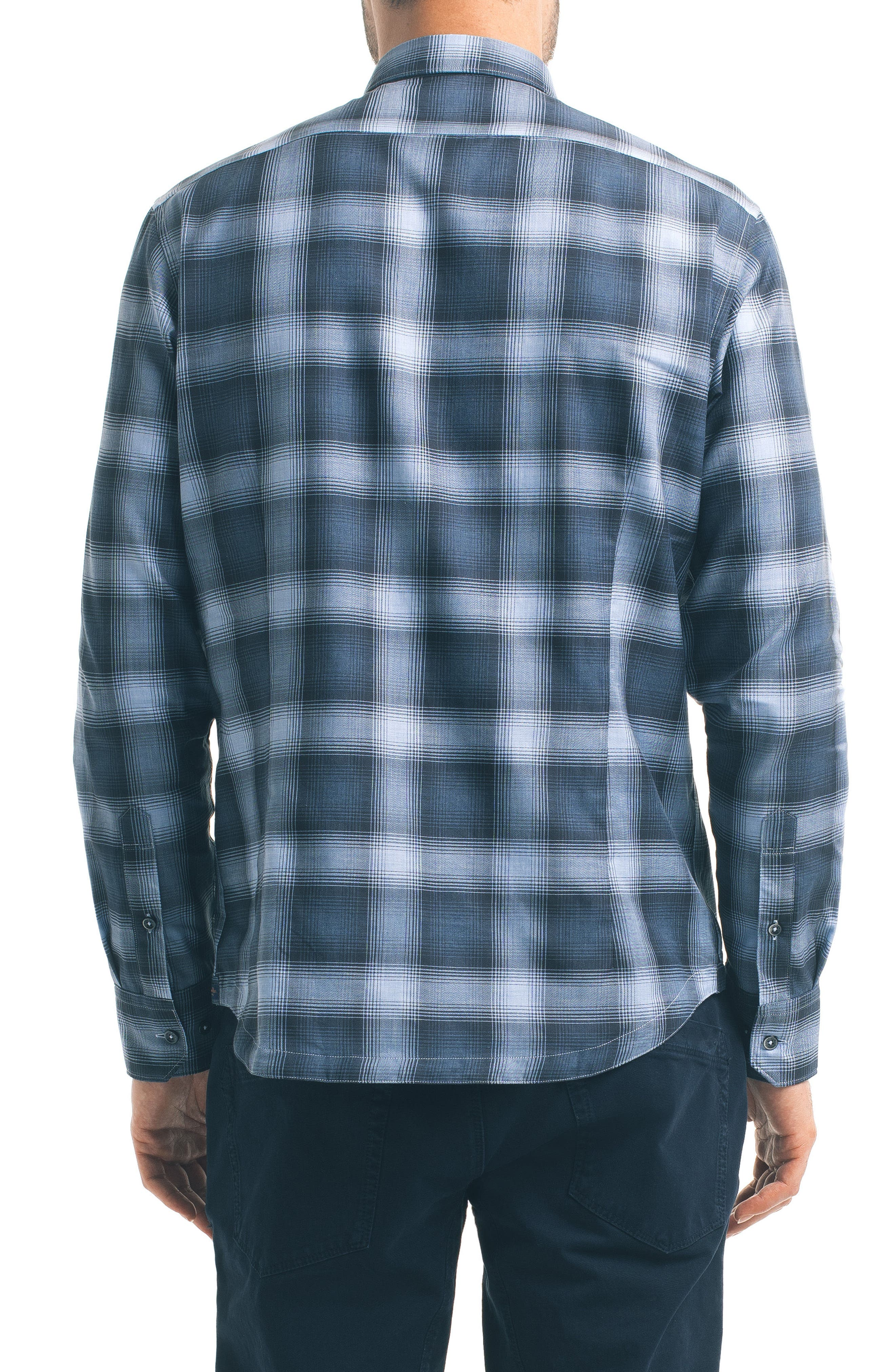 Alternate Image 2  - Good Man Brand Slim Fit Plaid Sport Shirt