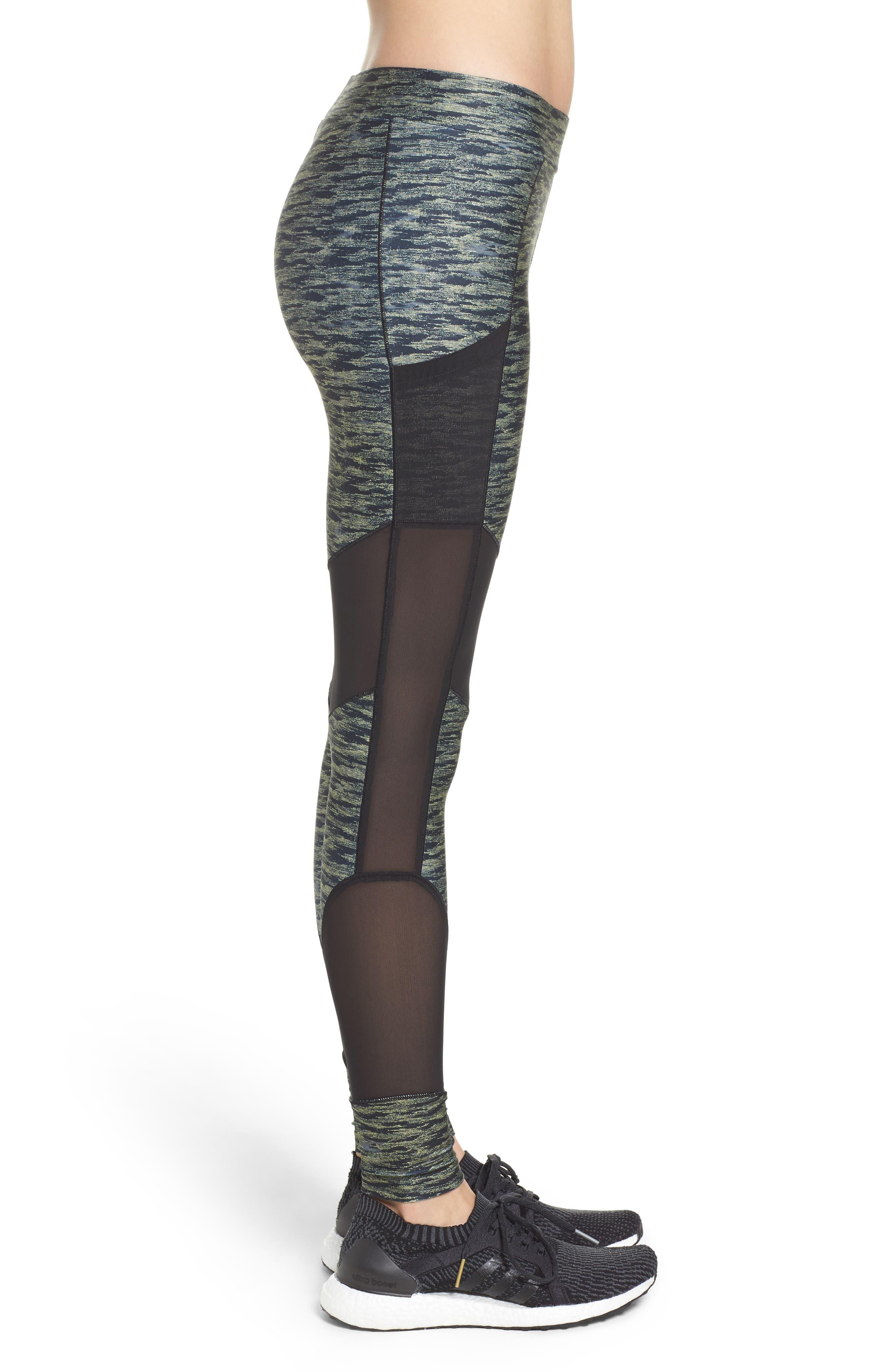 Velvet Rope Leggings,                             Alternate thumbnail 3, color,                             Puma Black