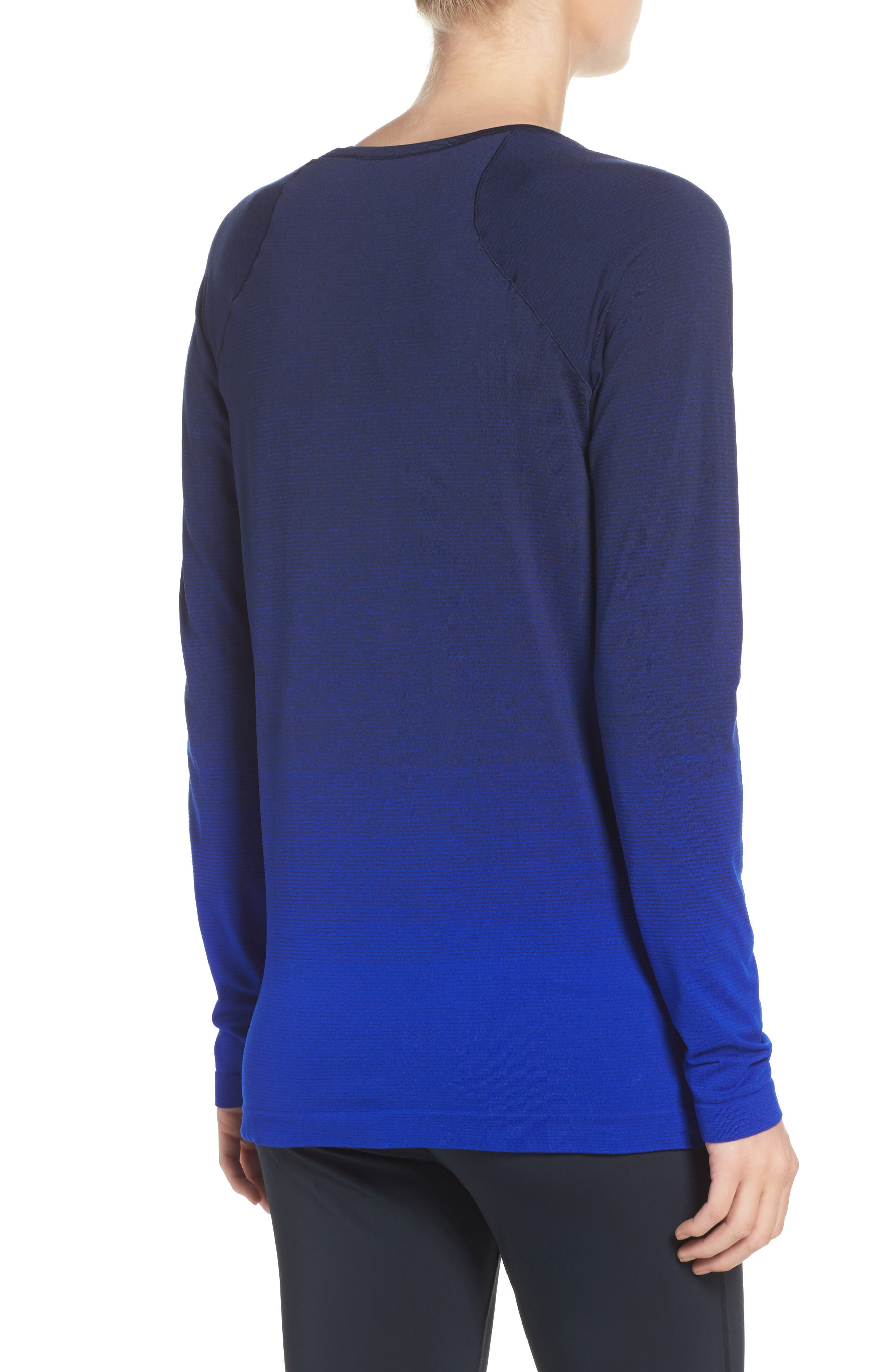 DriLayer Top,                             Alternate thumbnail 2, color,                             Navy/ Cobalt