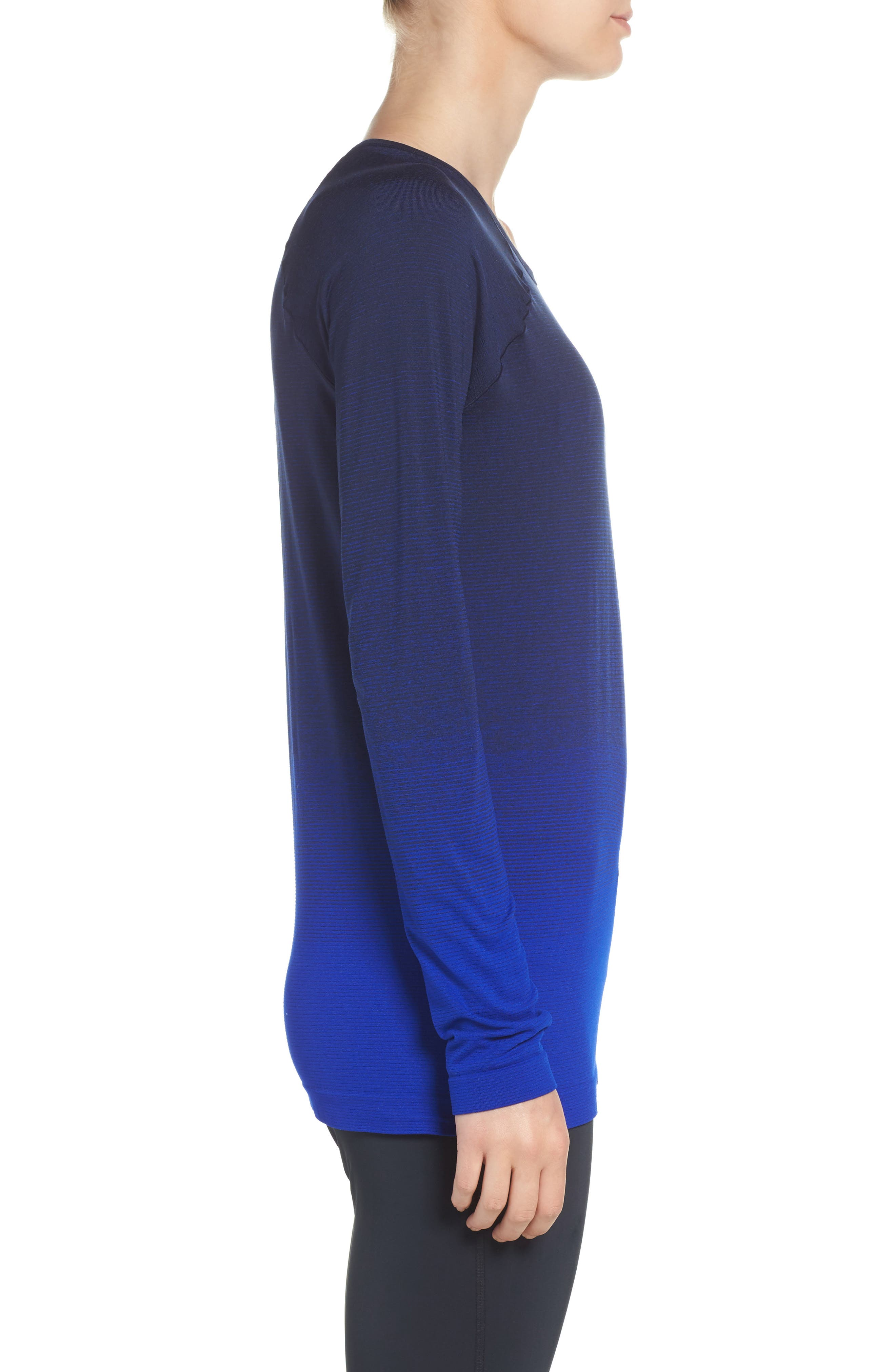 DriLayer Top,                             Alternate thumbnail 3, color,                             Navy/ Cobalt