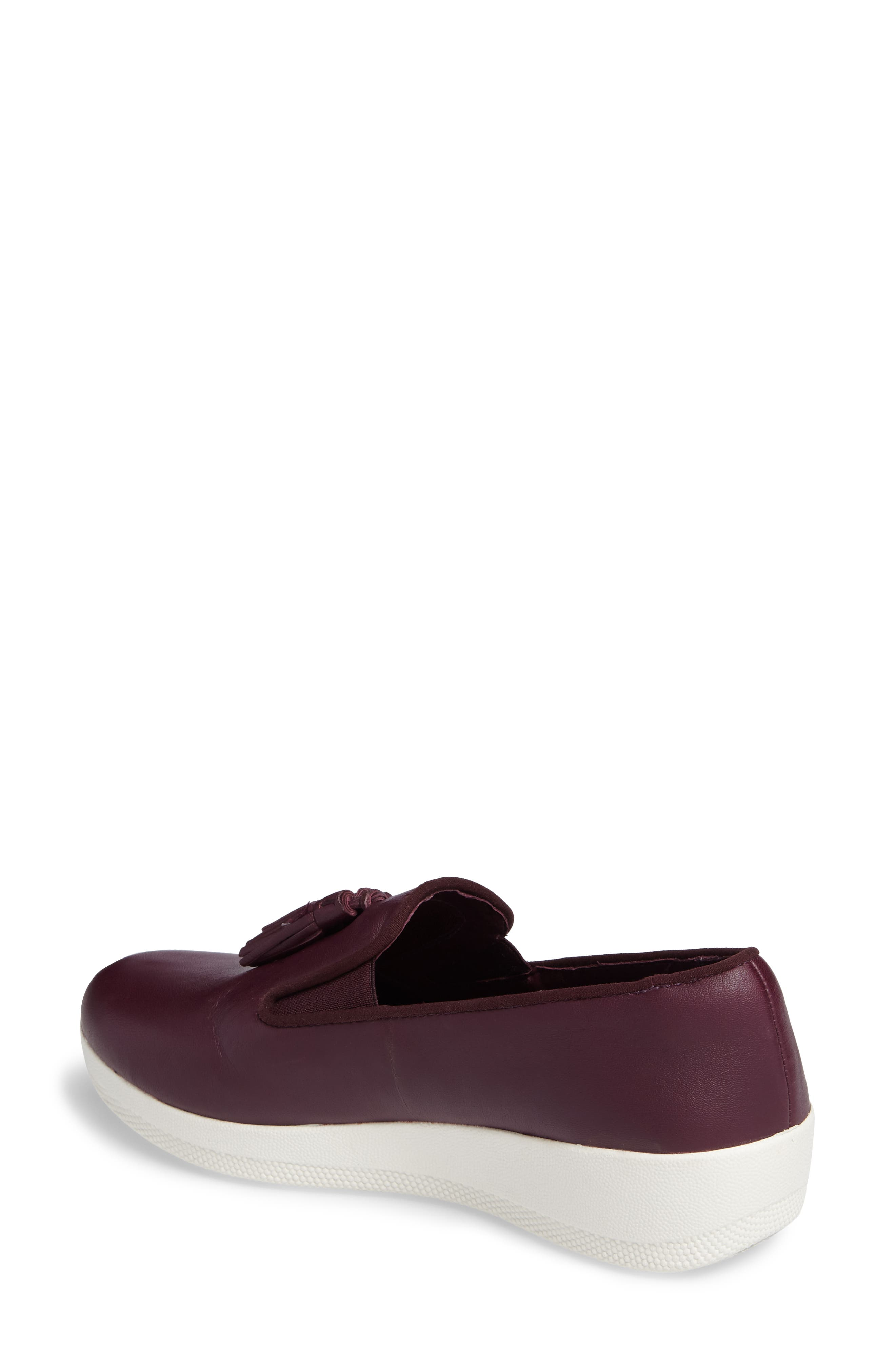 Tassle Superskate Wedge Sneaker,                             Alternate thumbnail 2, color,                             Deep Plum Leather