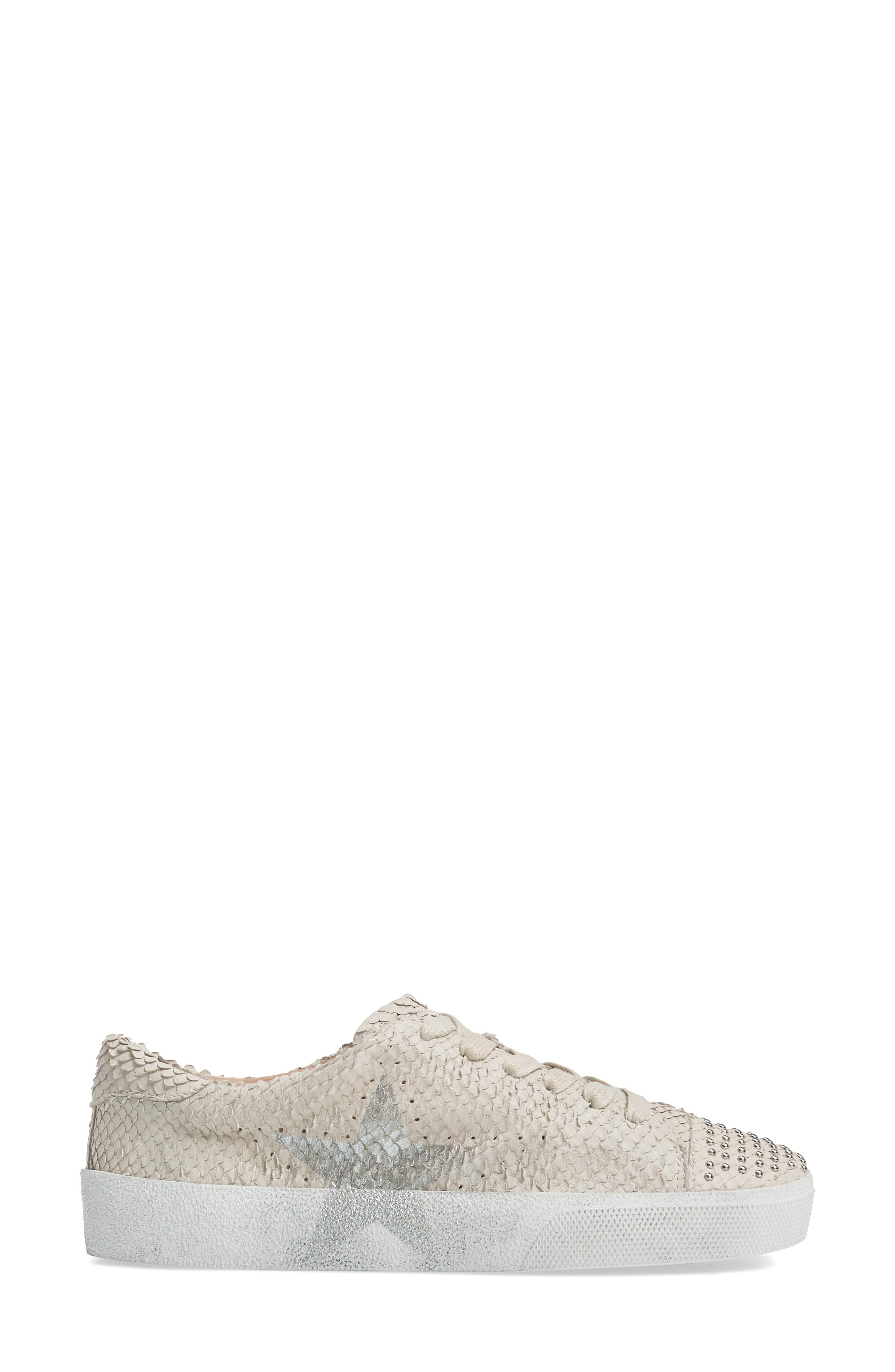 Catcall Studded Sneaker,                             Alternate thumbnail 3, color,                             Vodka/ Silver