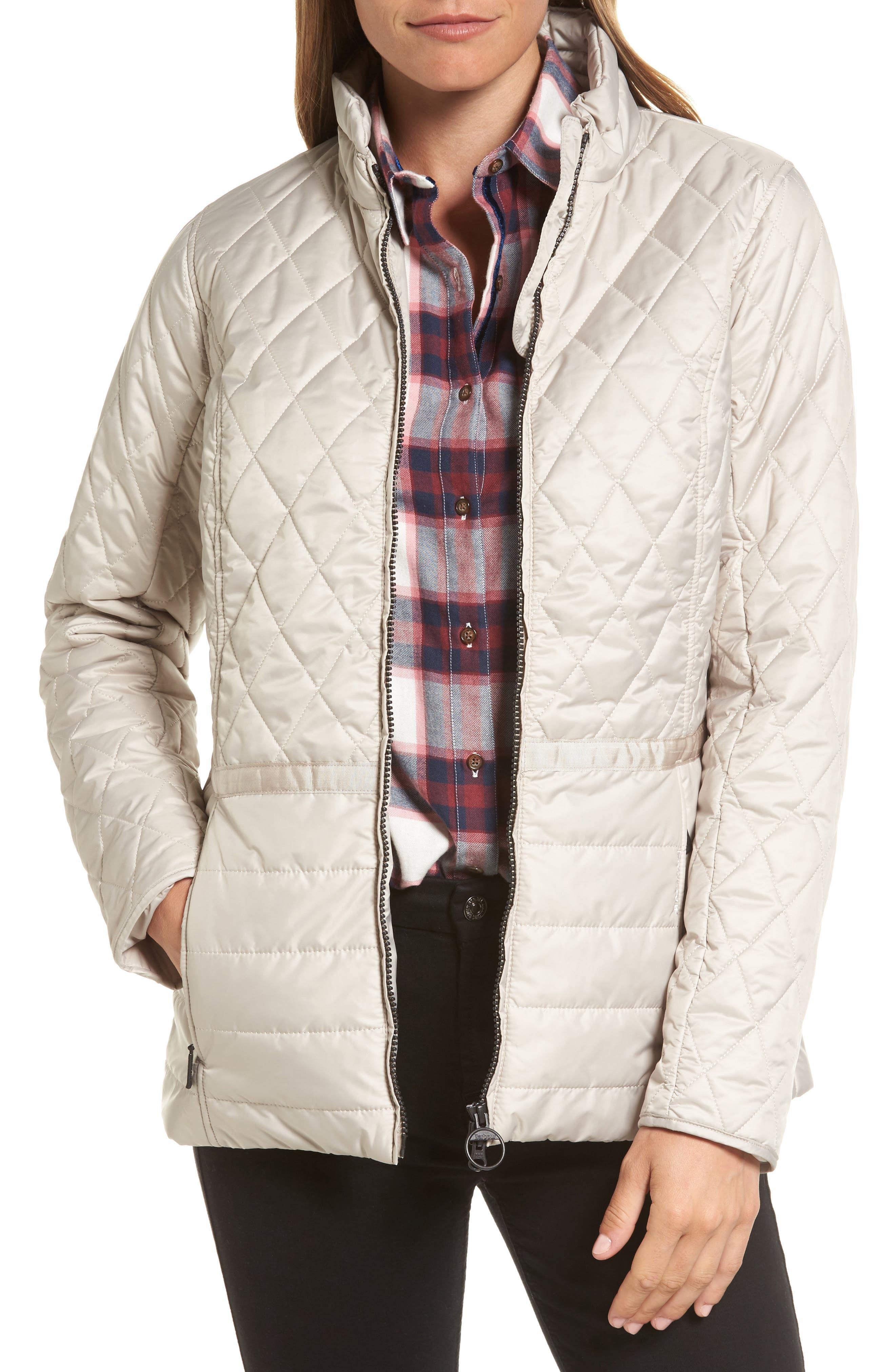 Water Resistant Quilted Jacket,                         Main,                         color, Mist