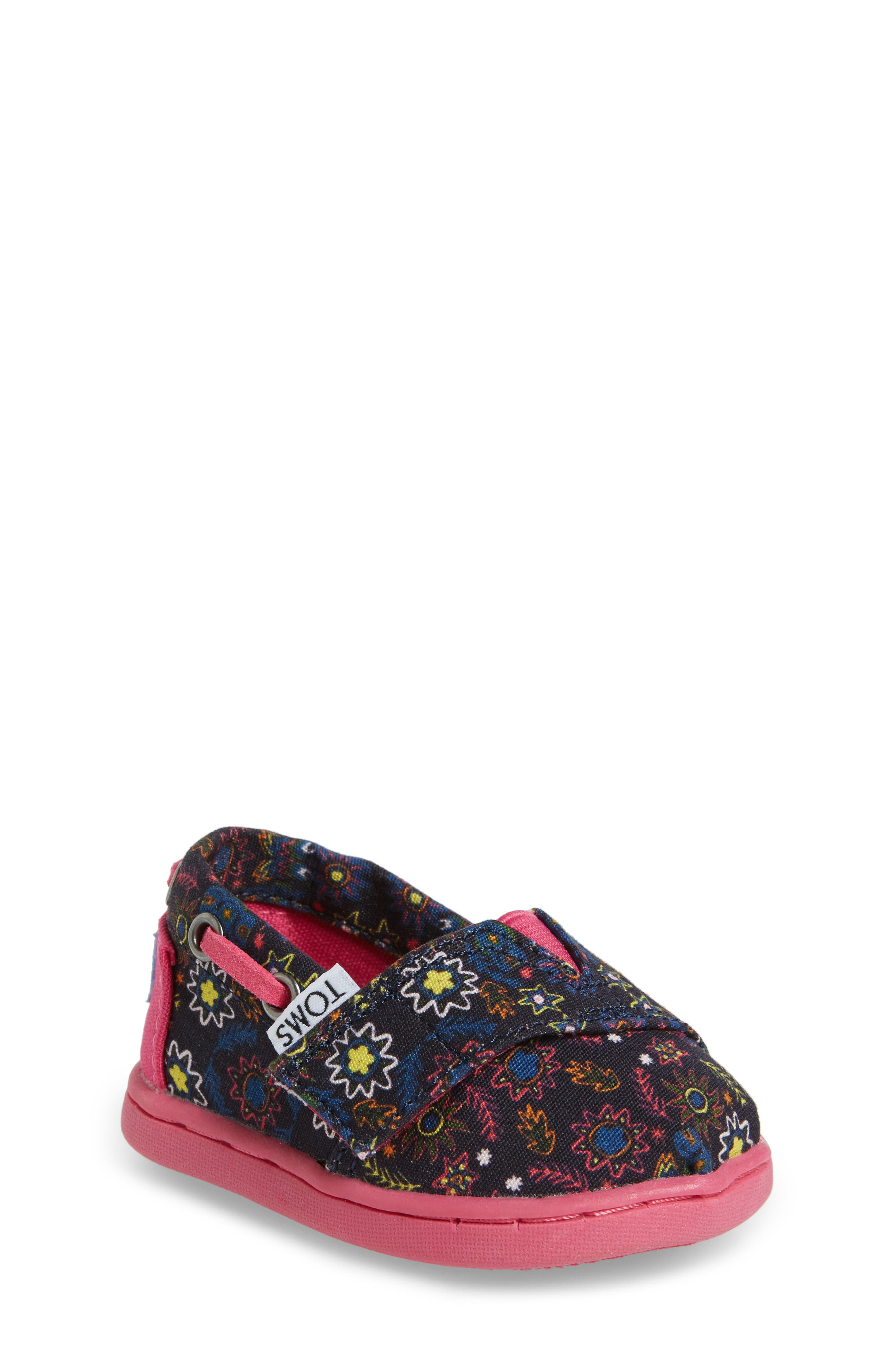 TOMS Bimini Print Slip-On (Baby, Walker & Toddler)