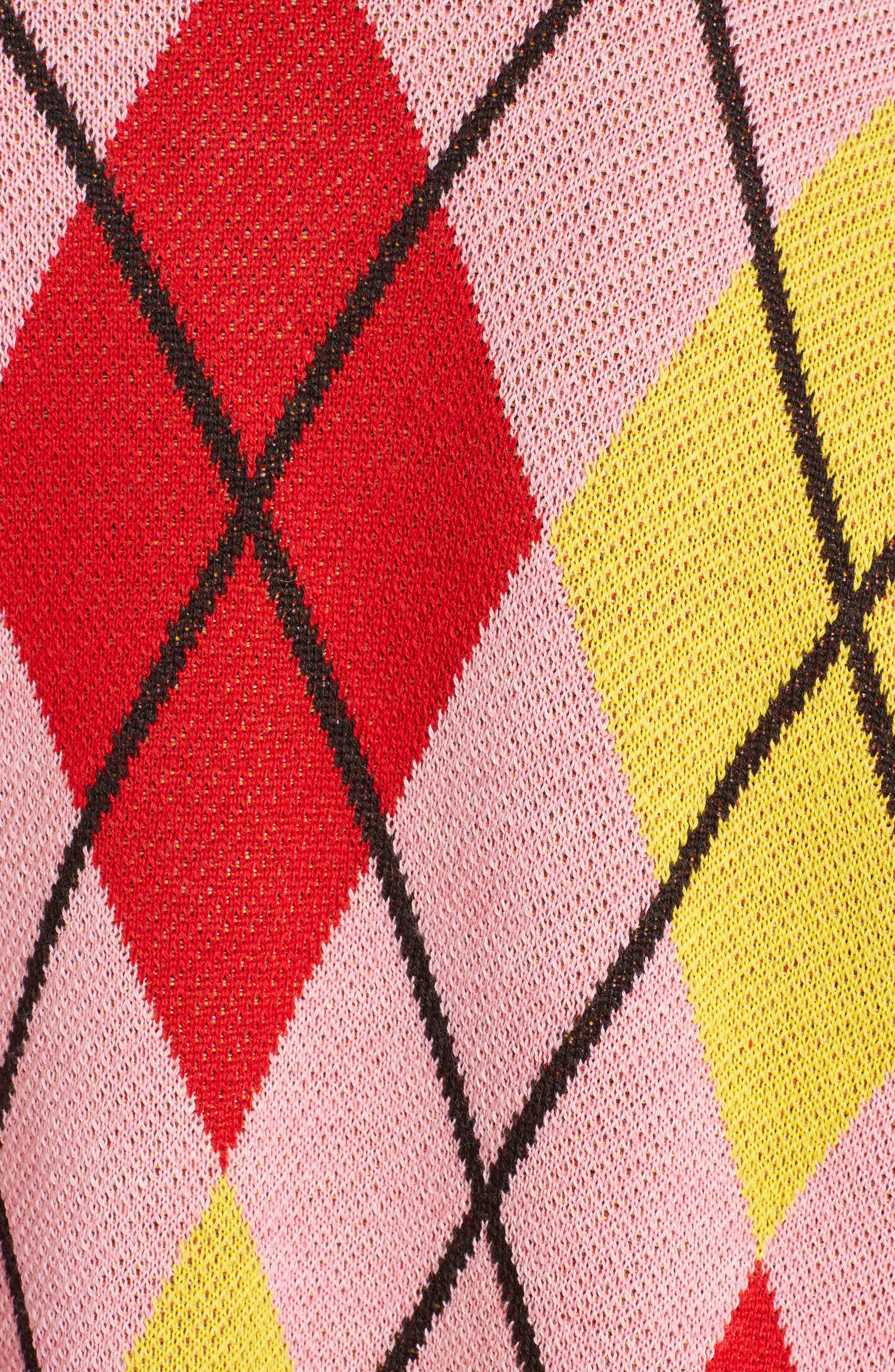 Alternate Image 6  - MSGM Argyle Ruffle Sweater