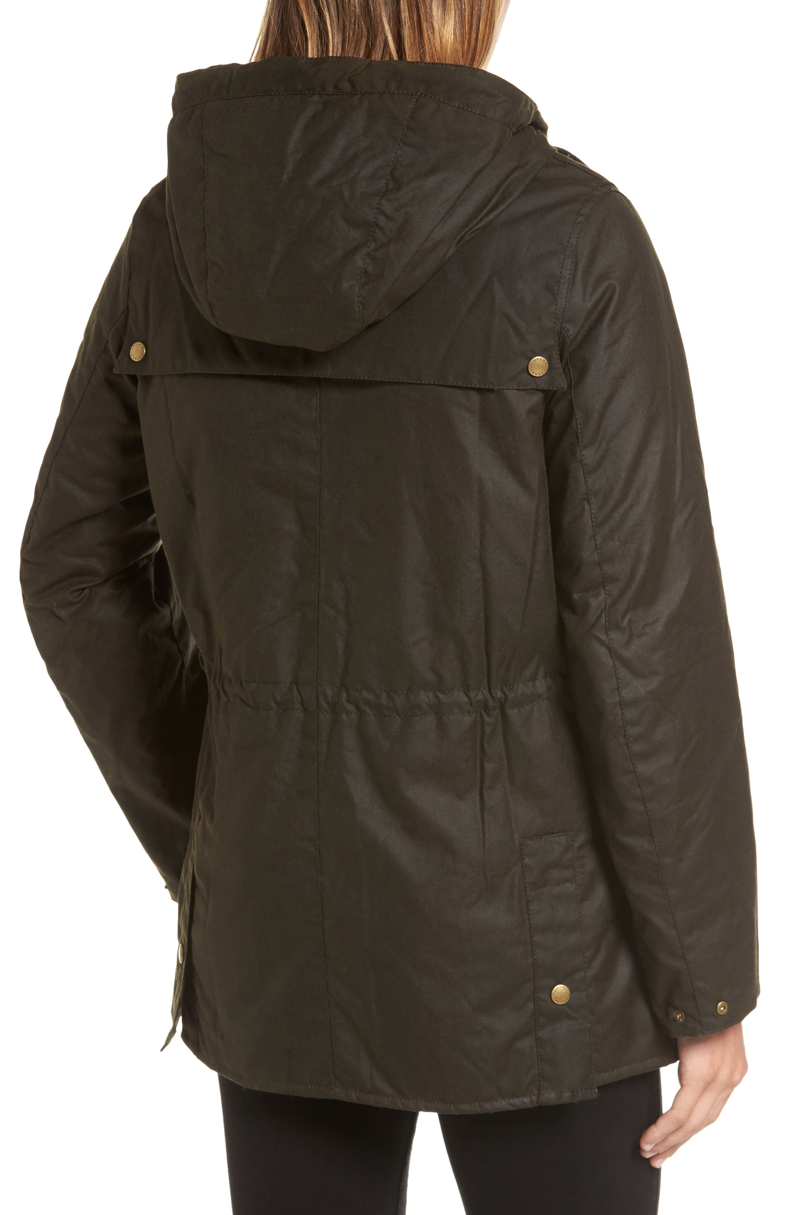 Alternate Image 2  - Barbour x Liberty Blaise Hooded Waxed Canvas Jacket
