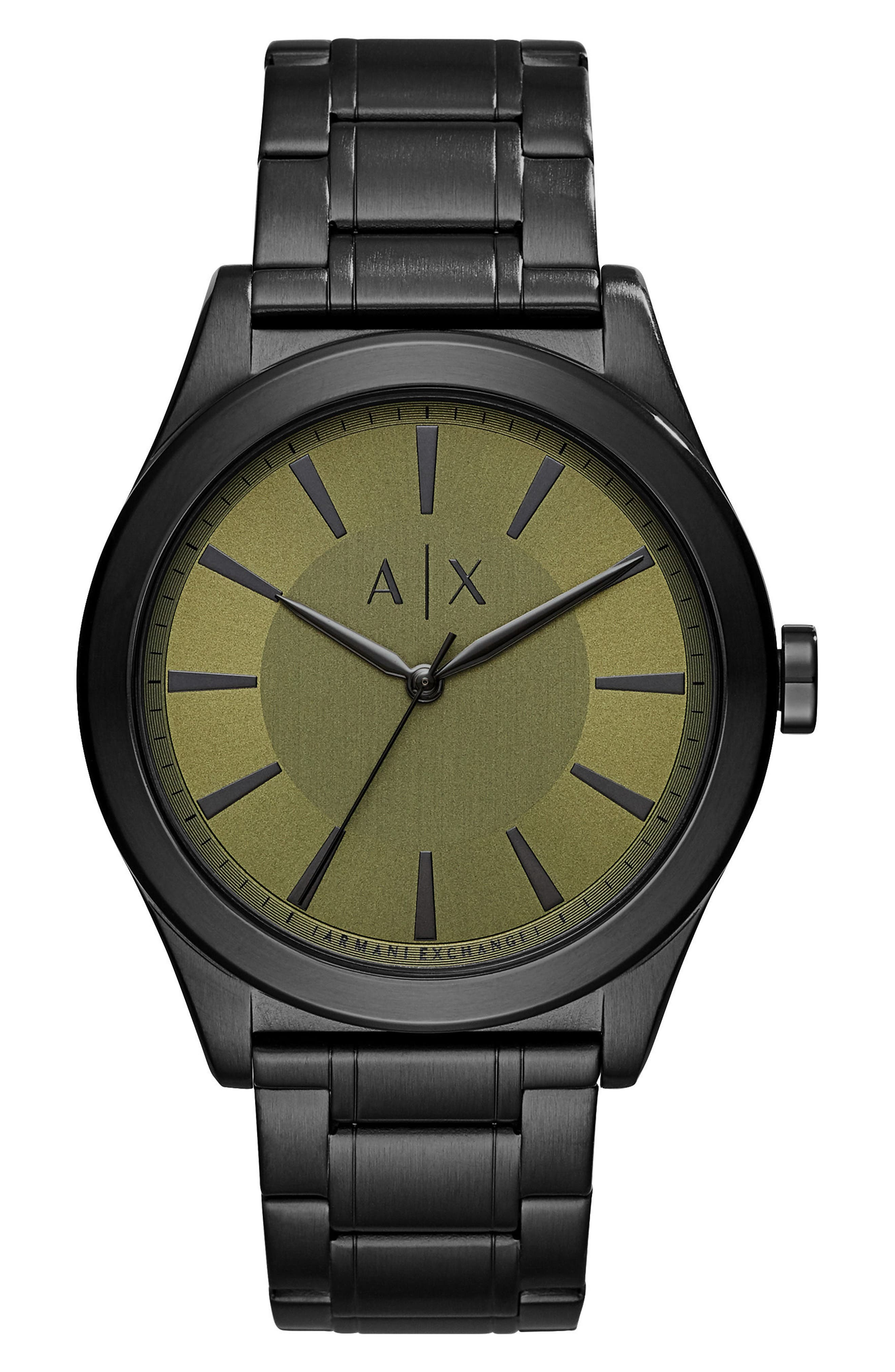 Alternate Image 1 Selected - AX Armani Exchange Bracelet Watch, 44mm