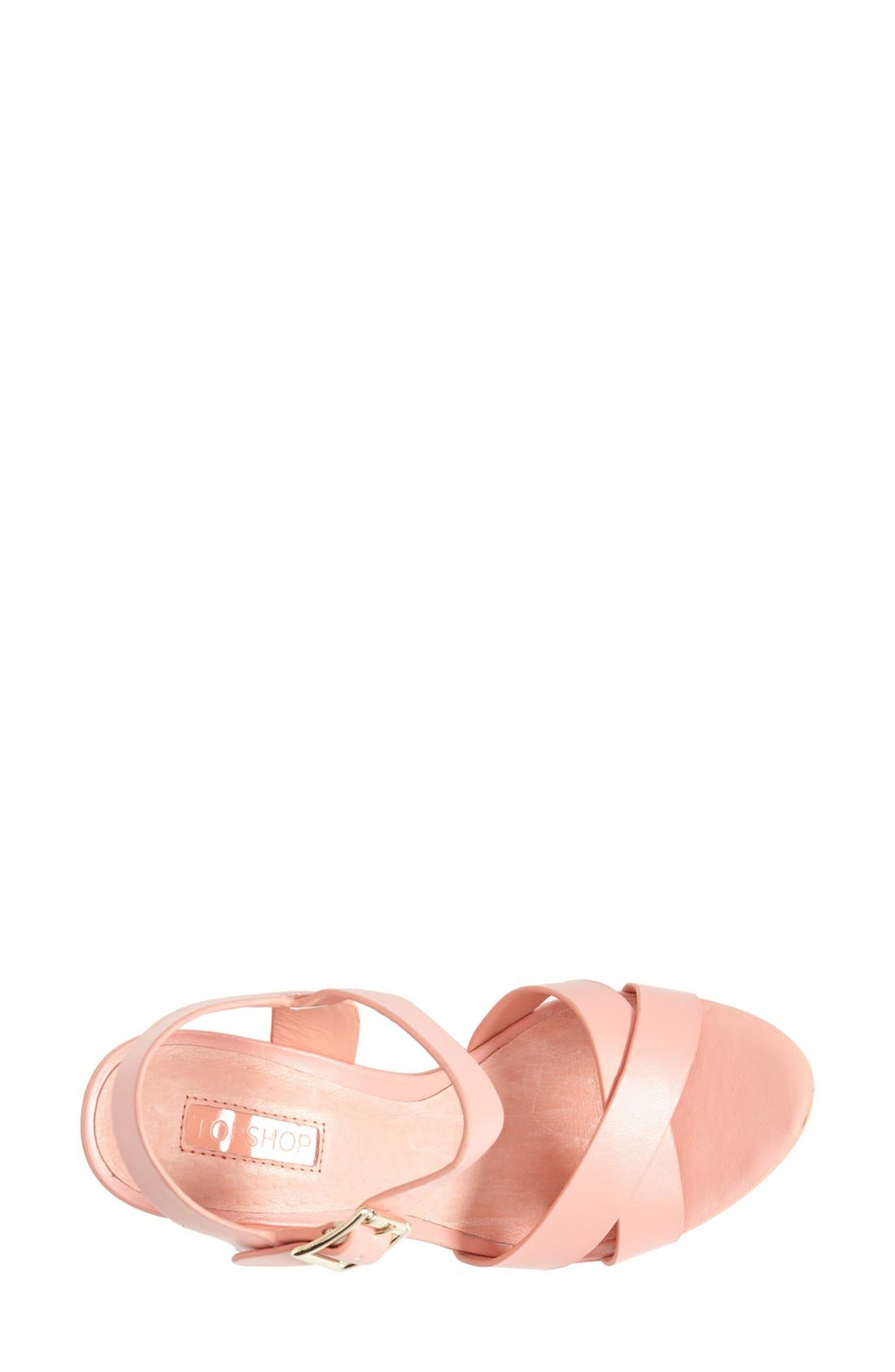 Alternate Image 3  - Topshop 'Launch' Ankle Strap Platform Sandal (Women)