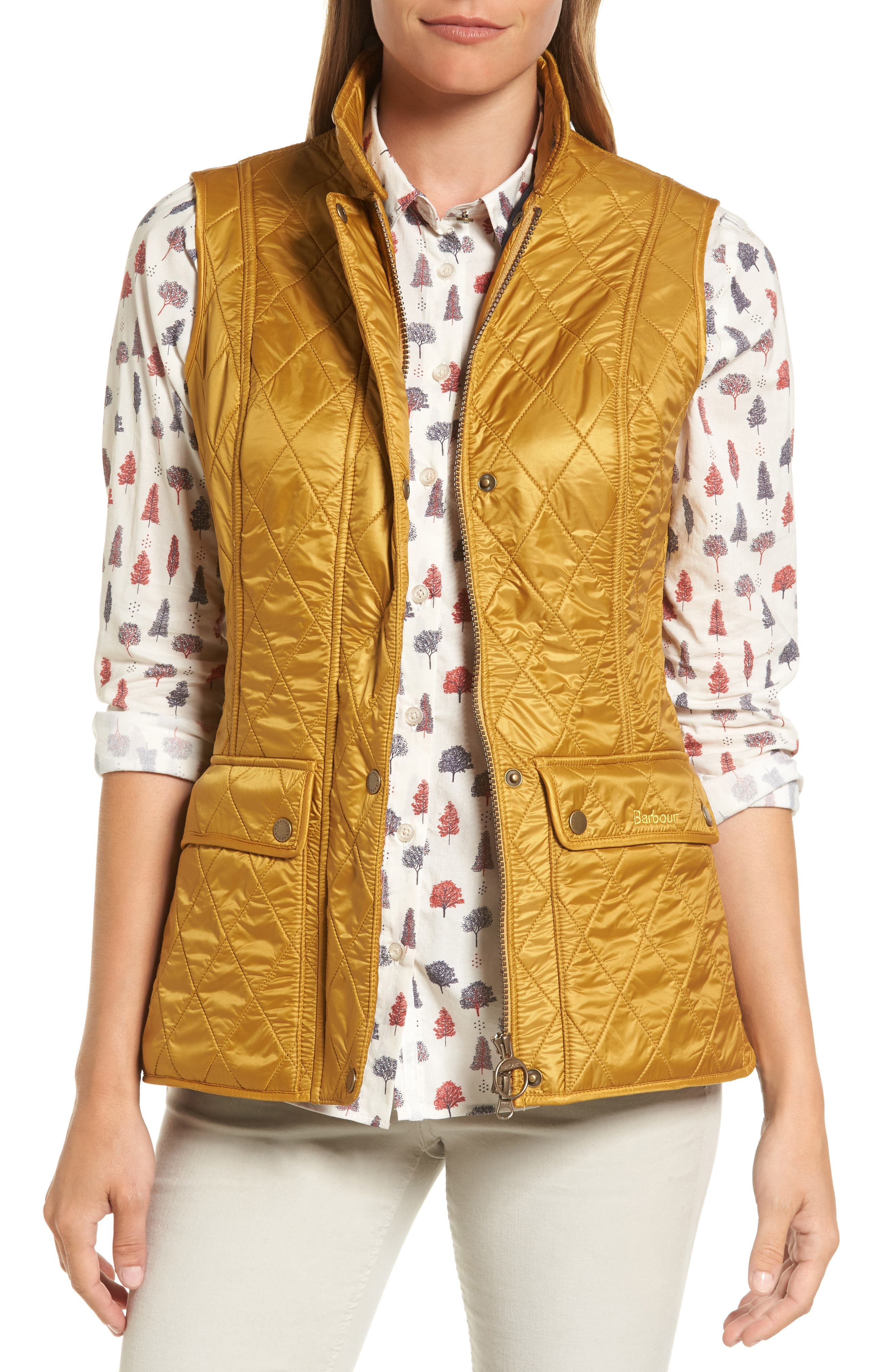 Wray Water Resistant Quilted Gilet,                         Main,                         color, Harvest Gold