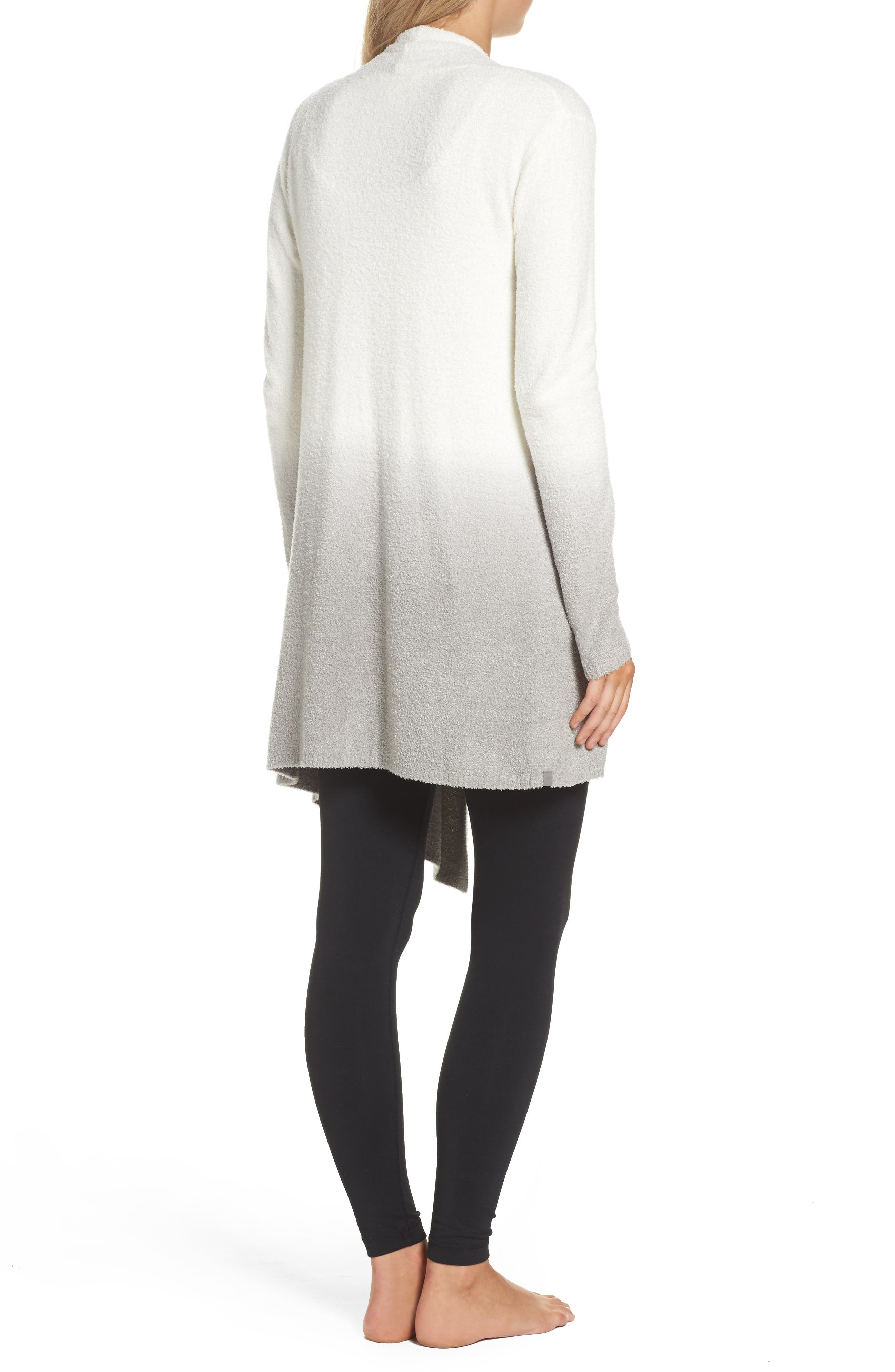 CozyChic Lite<sup>®</sup> Calypso Wrap Cardigan,                             Alternate thumbnail 2, color,                             White/ Pewter Ombre