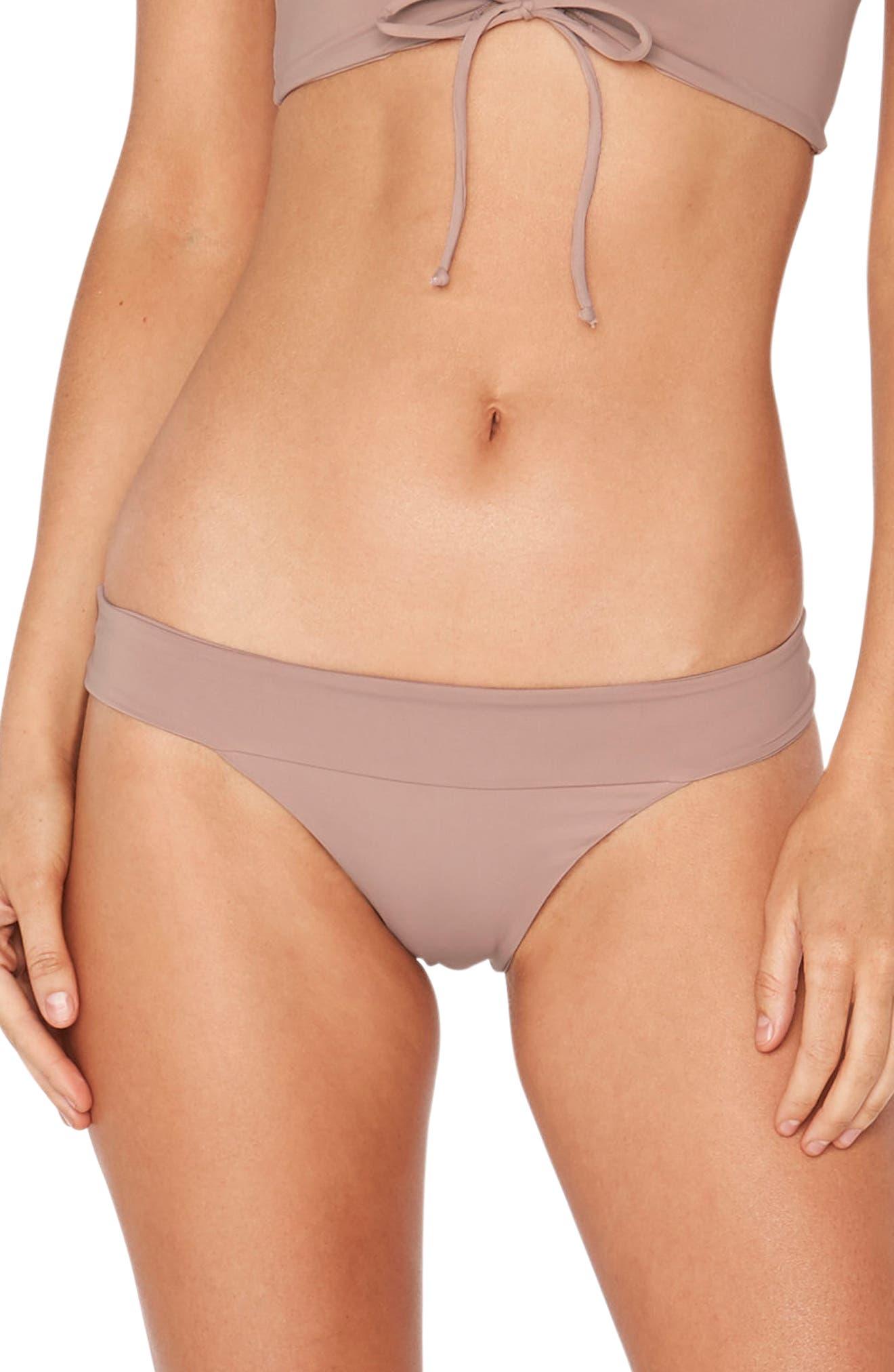 Veronica Classic Bikini Bottoms,                             Main thumbnail 1, color,                             Dusty Pearl