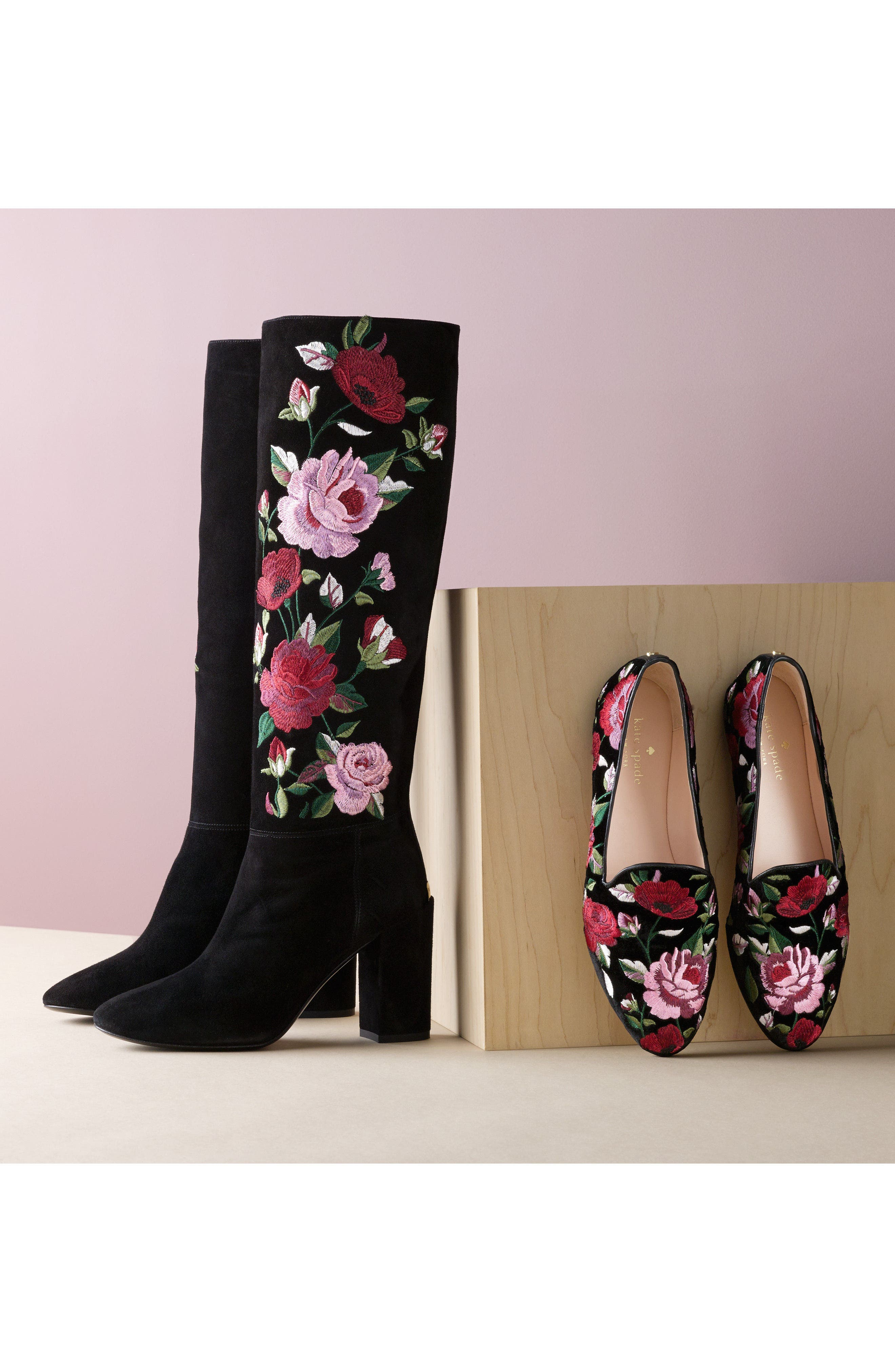 Alternate Image 7  - kate spade new york greenfield flower embroidered boot (Women)