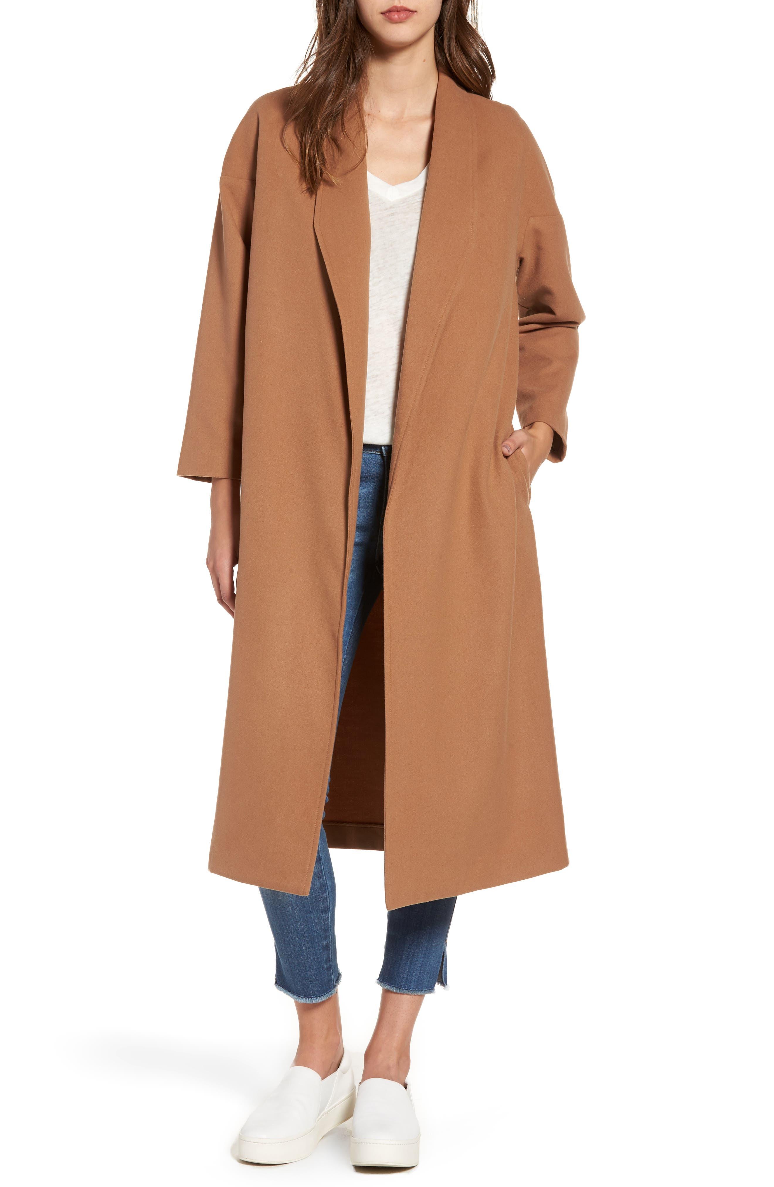 Perfect Midi Coat,                             Main thumbnail 1, color,                             Camel