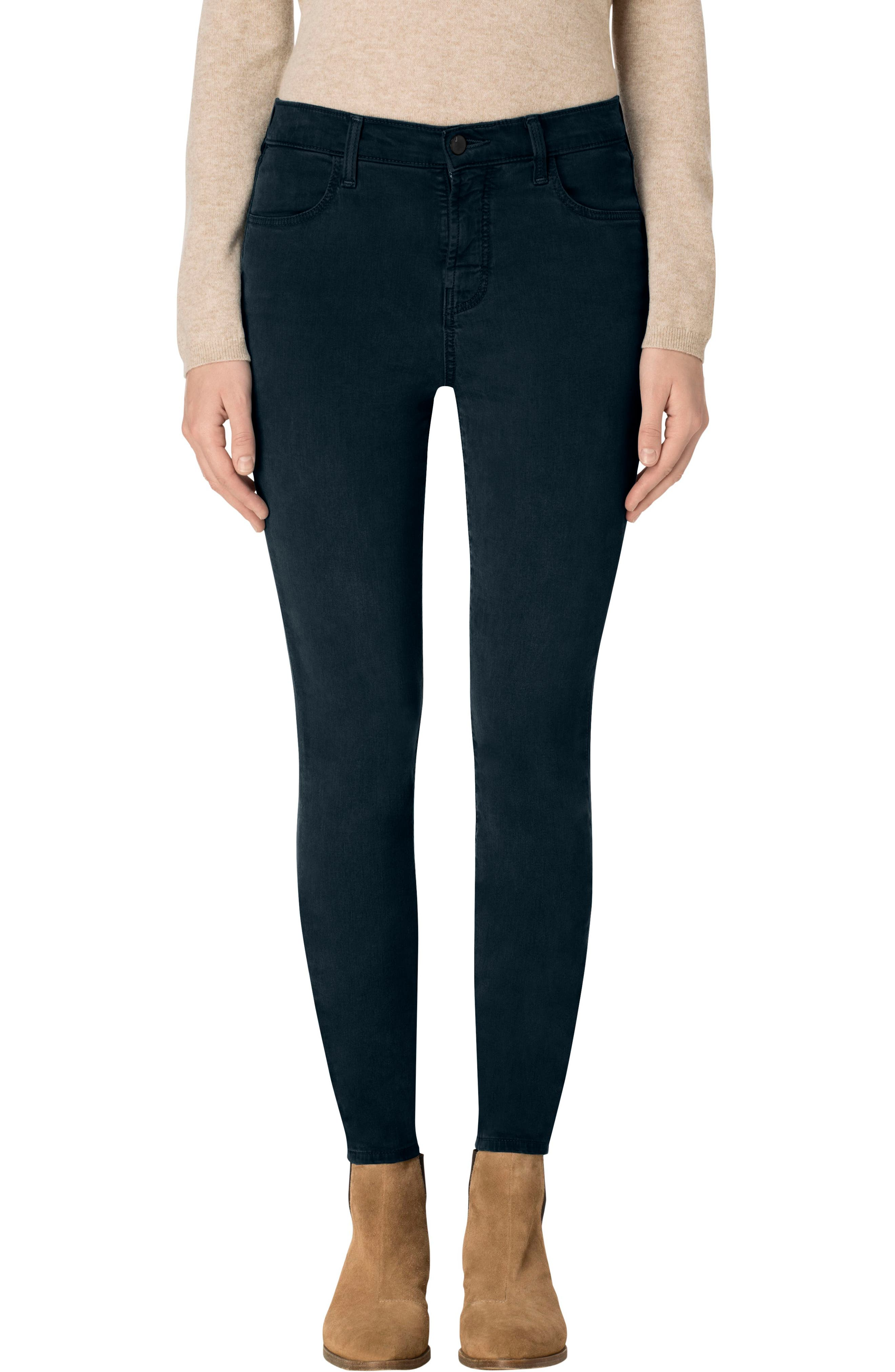 High Waist Ankle Super Skinny Jeans,                         Main,                         color, Moorland
