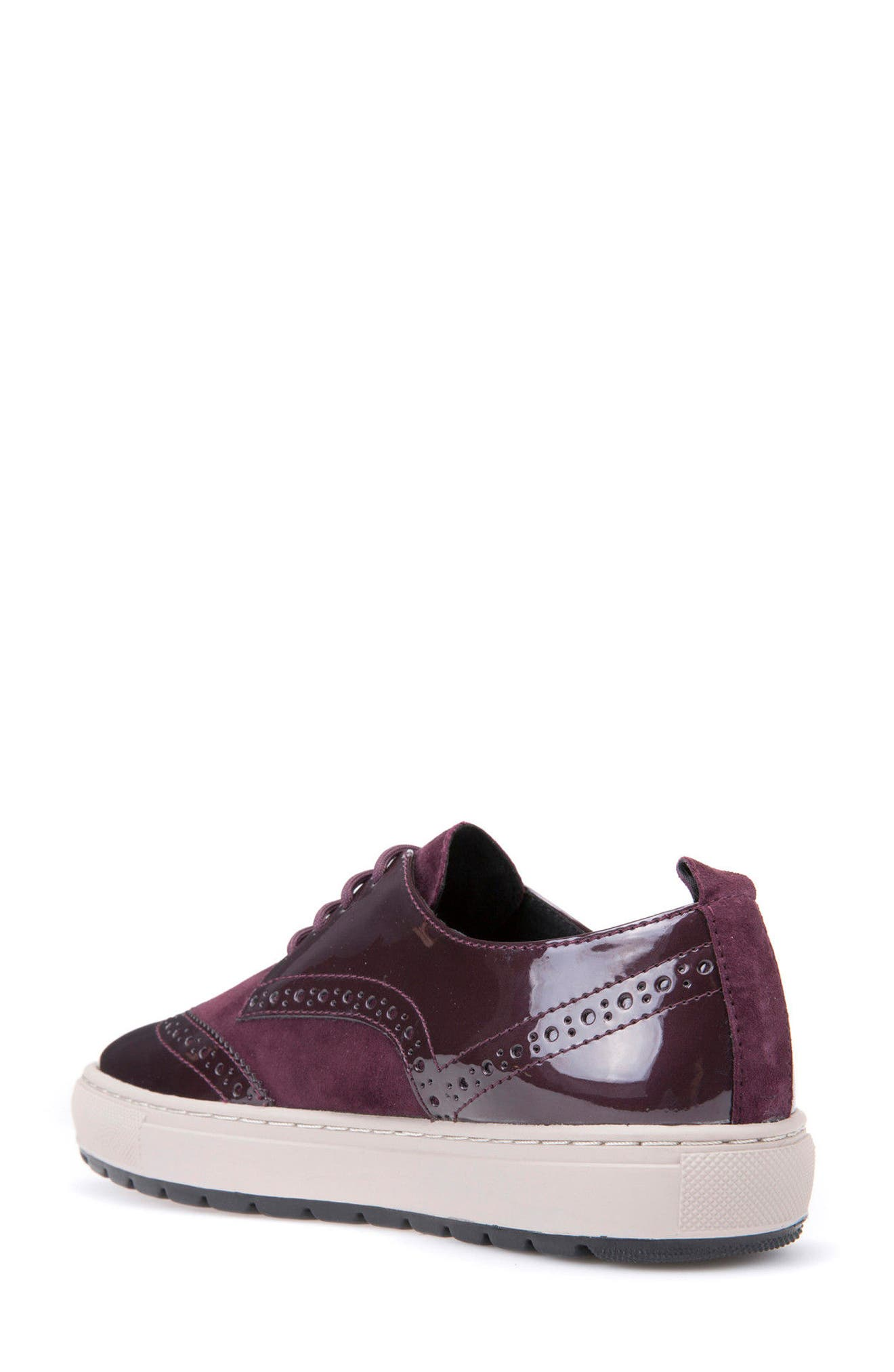 Breeda Oxford Sneaker,                             Alternate thumbnail 2, color,                             Prune Leather