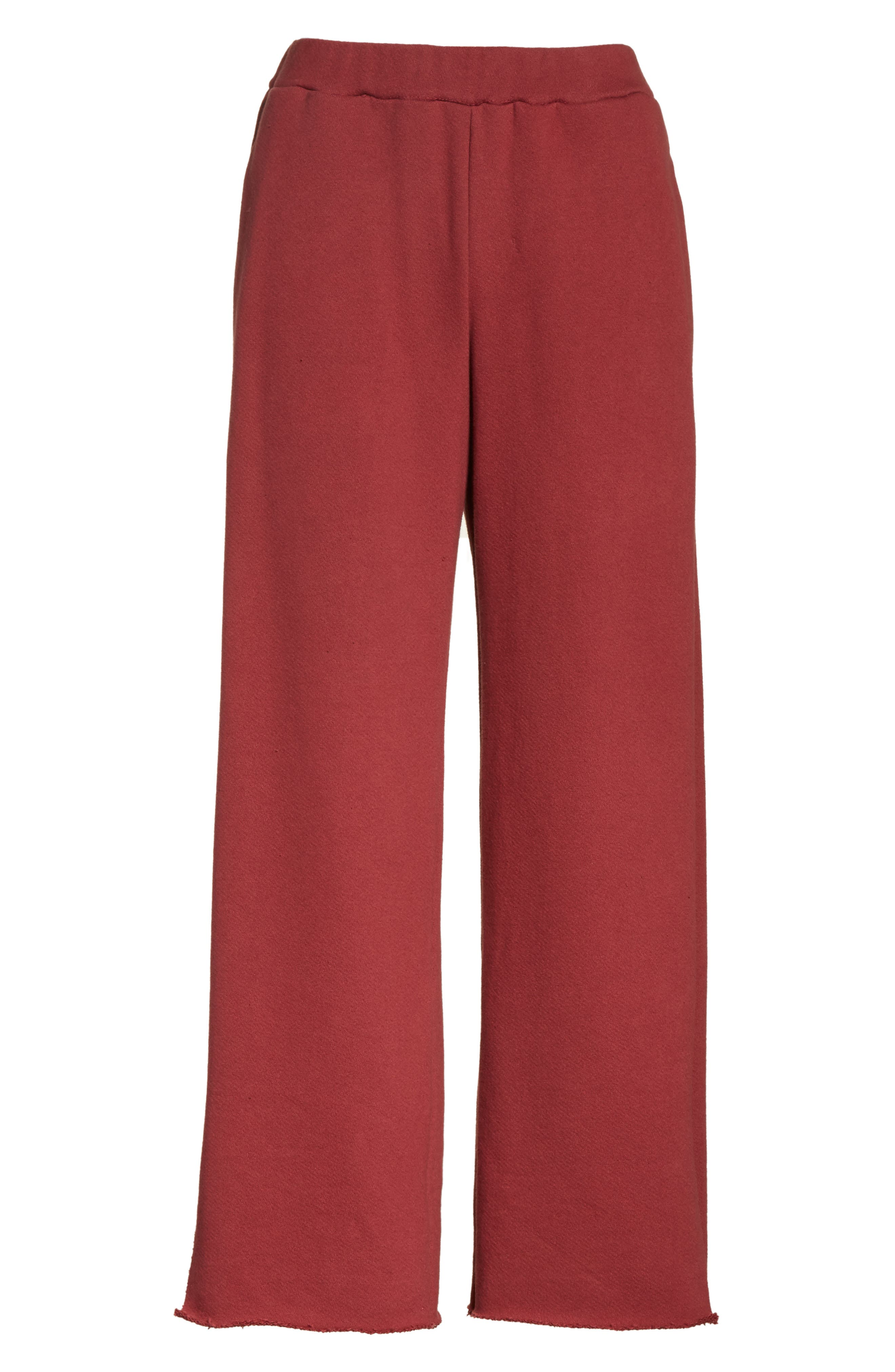 Canal French Terry Sweatpants,                             Alternate thumbnail 4, color,                             Tegola Pink