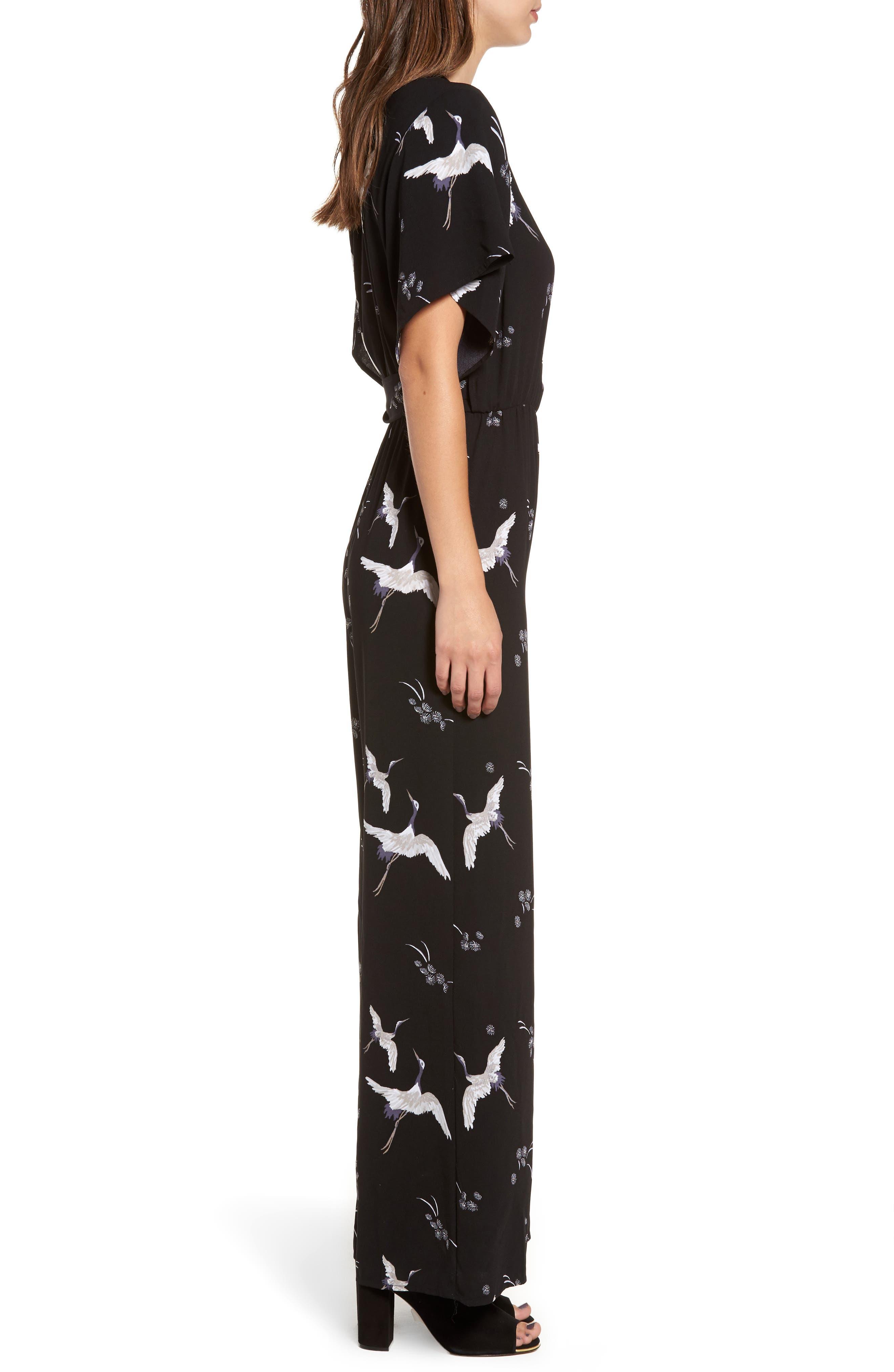 Alternate Image 4  - Leith Kimono Wrap Jumpsuit