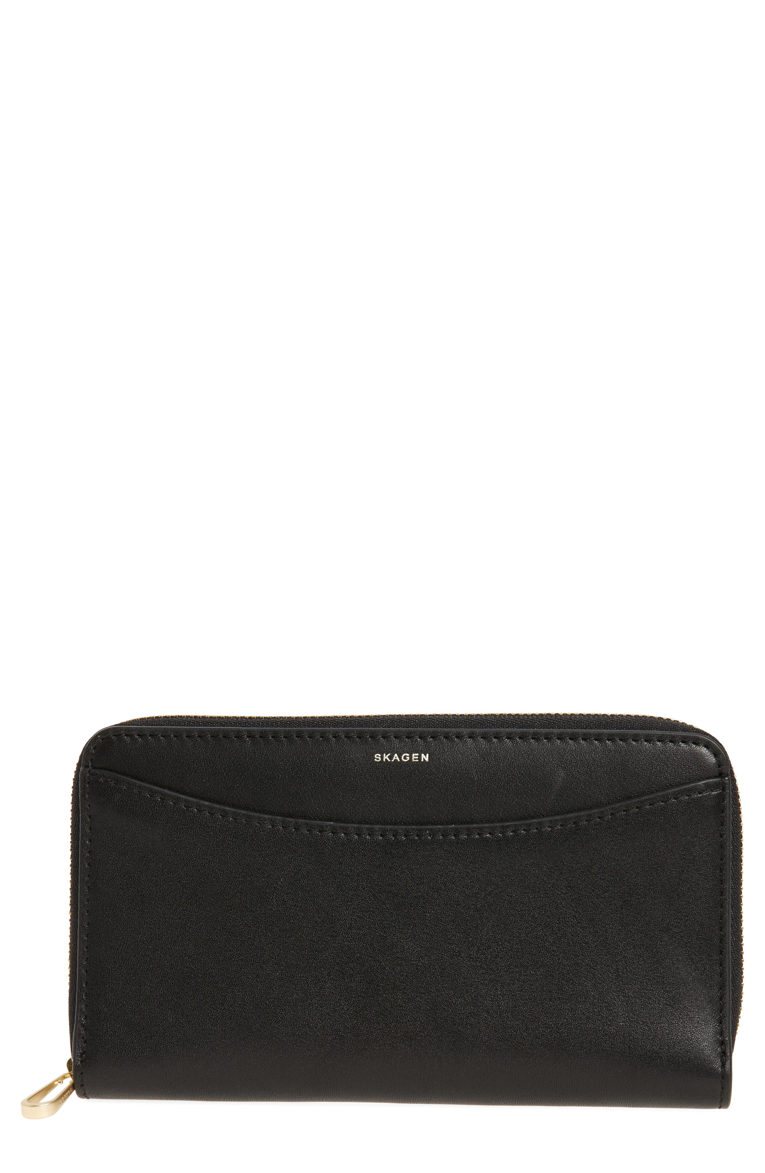 Compact Continental Wallet,                         Main,                         color, Black