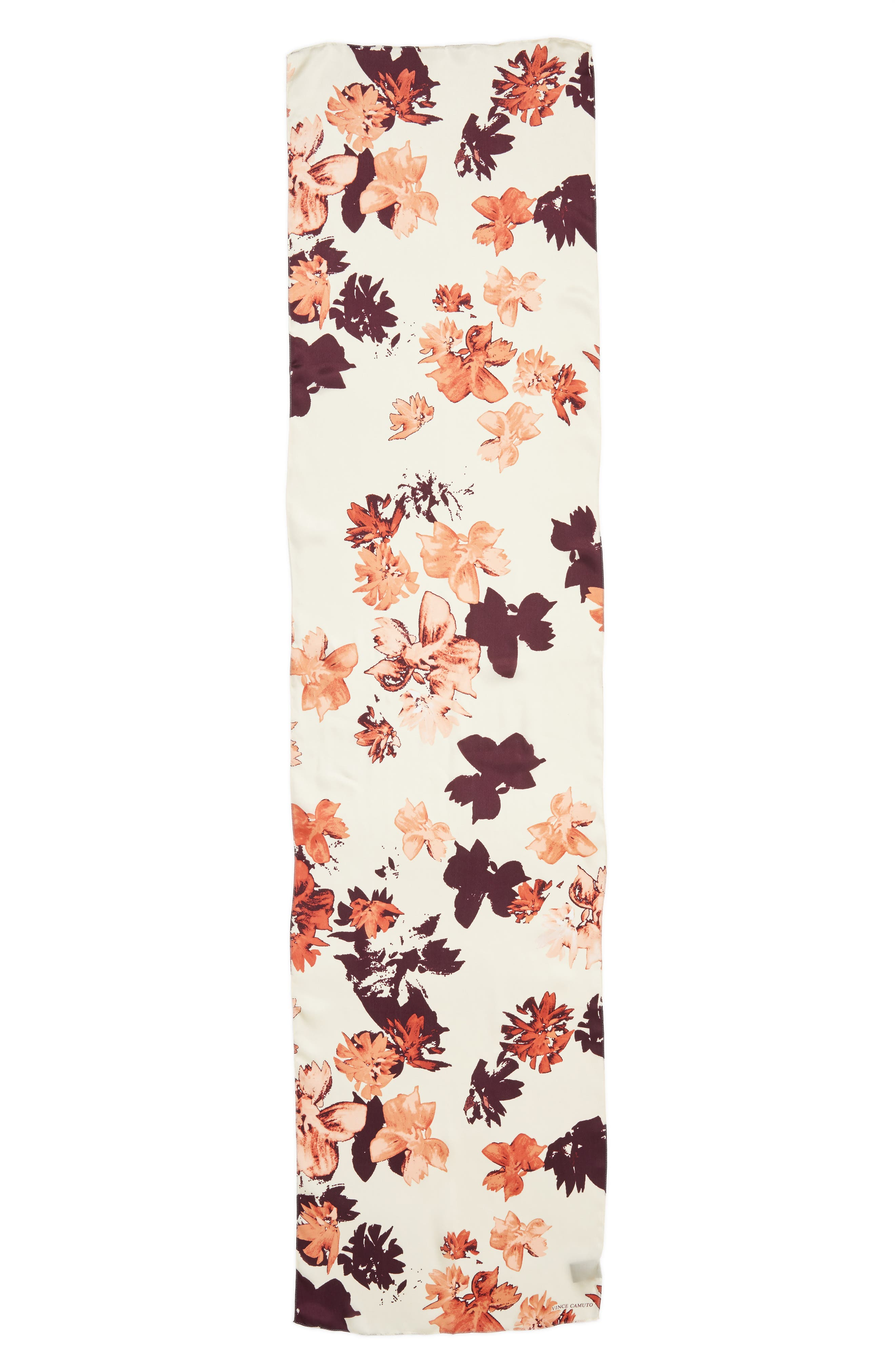 Floral Print Brushed Silk Scarf,                             Alternate thumbnail 2, color,                             Blush