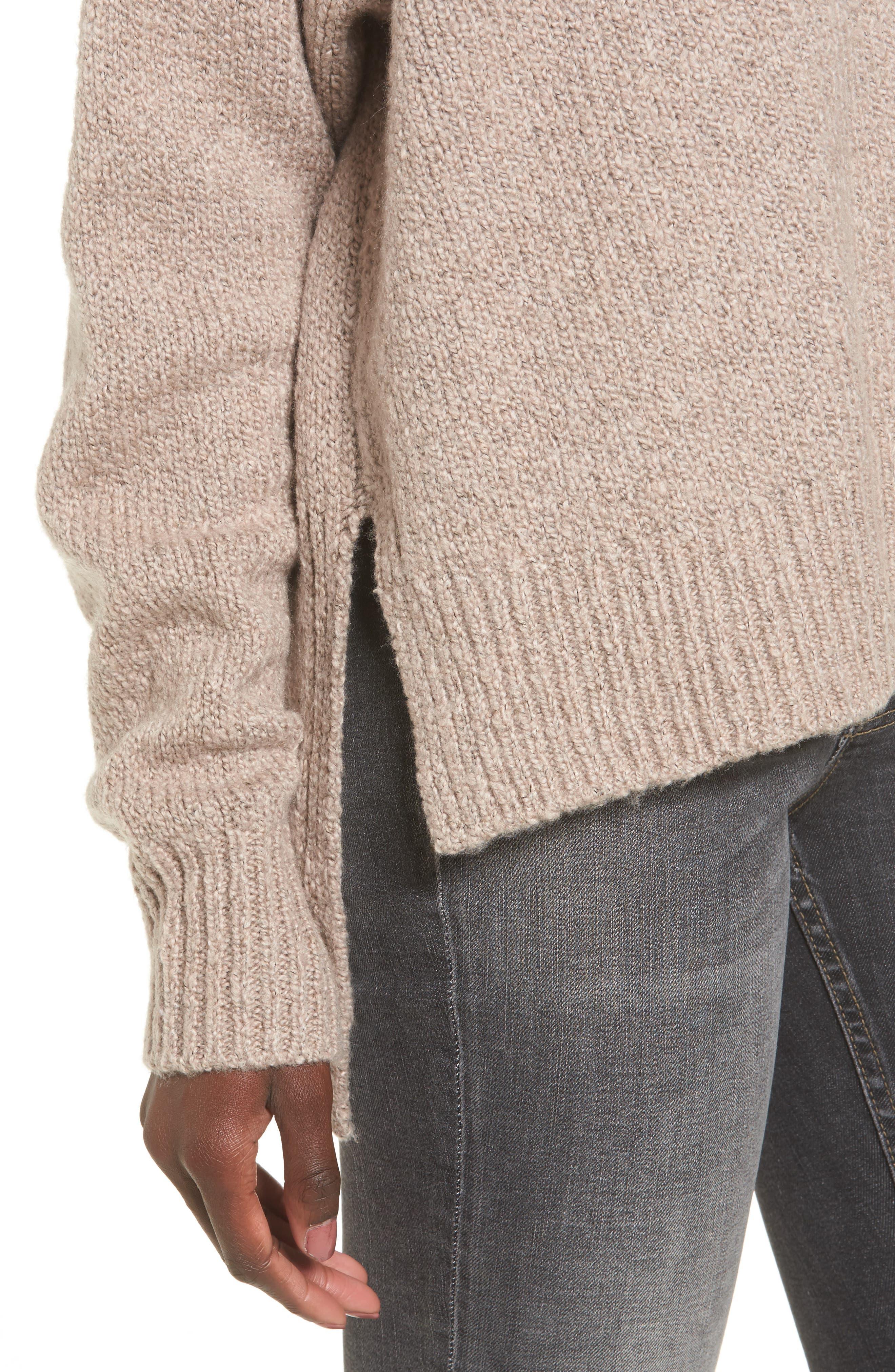 Alternate Image 4  - Leith Fuzzy Side Slit Sweater