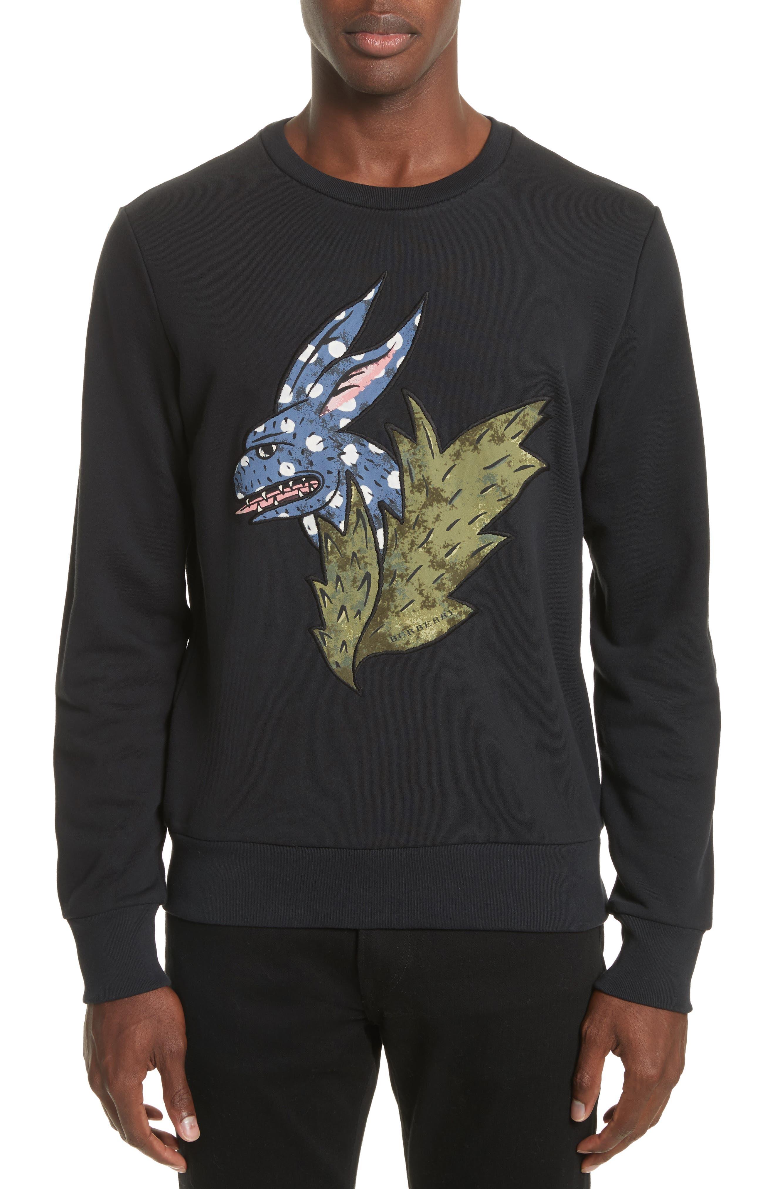 Burberry Beasts Appliqué Crewneck Sweatshirt