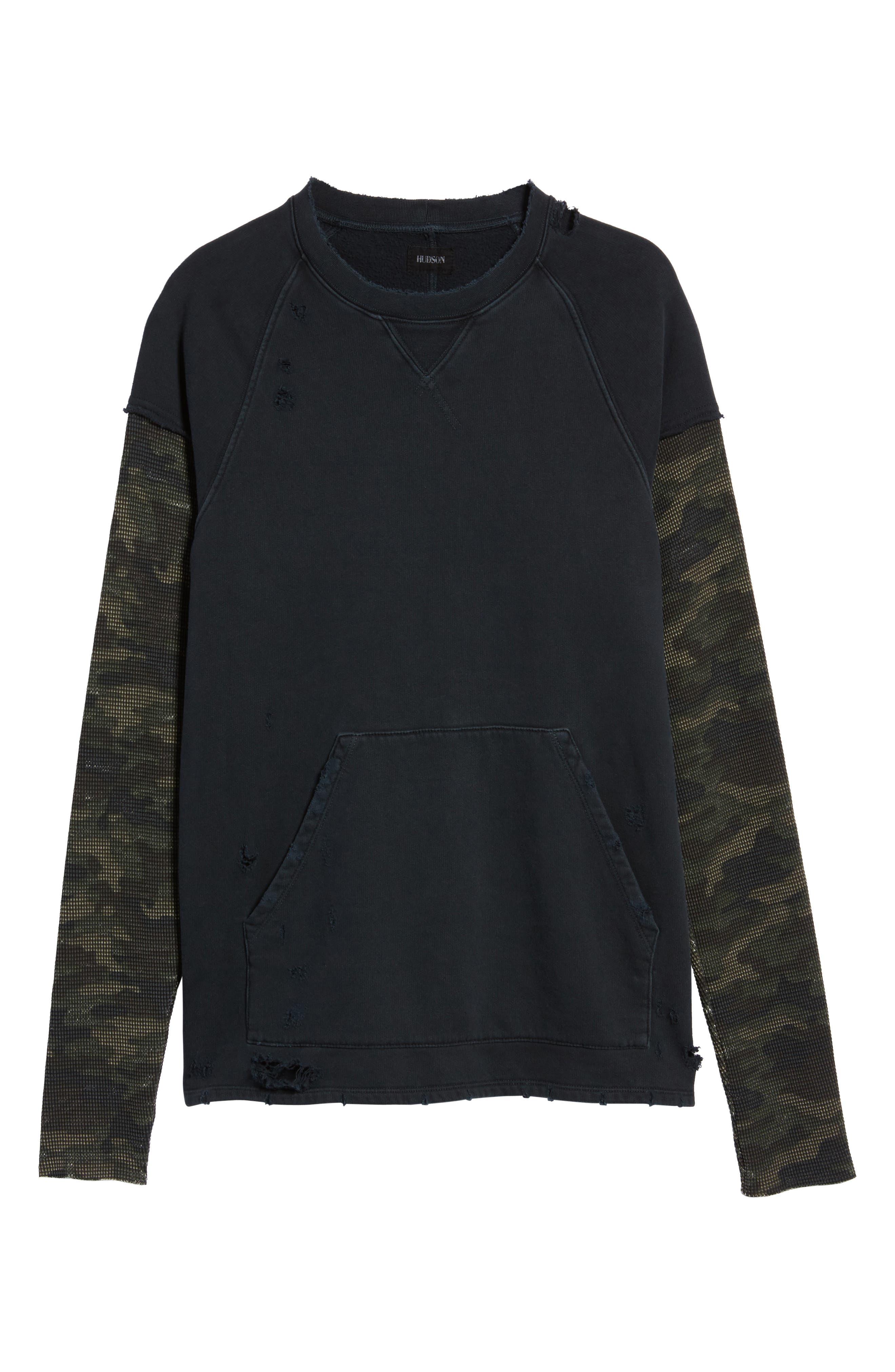 Alternate Image 5  - Hudson Jeans Striker Slim Fit Crewneck Sweatshirt