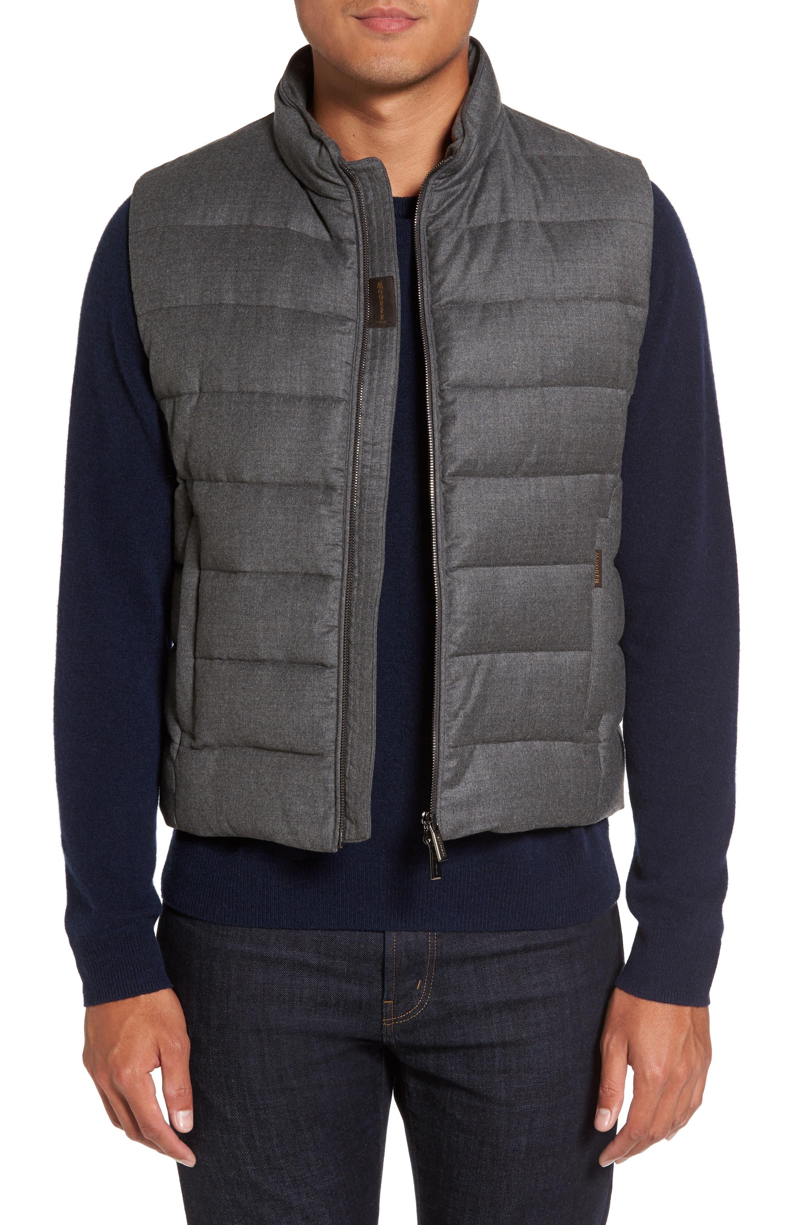 Main Image - MooRER Oliver L Wool & Cashmere Flannel Waterproof Vest
