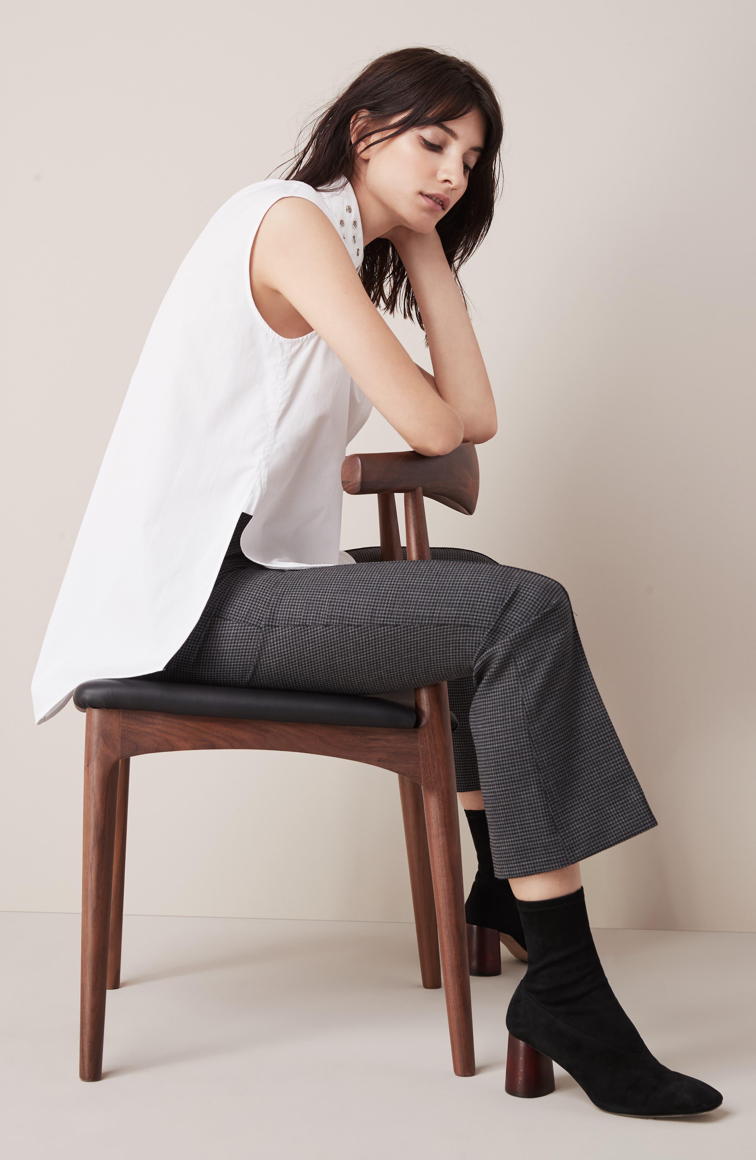 Eyelet Cotton Poplin Shirt,                             Alternate thumbnail 2, color,                             Bright White