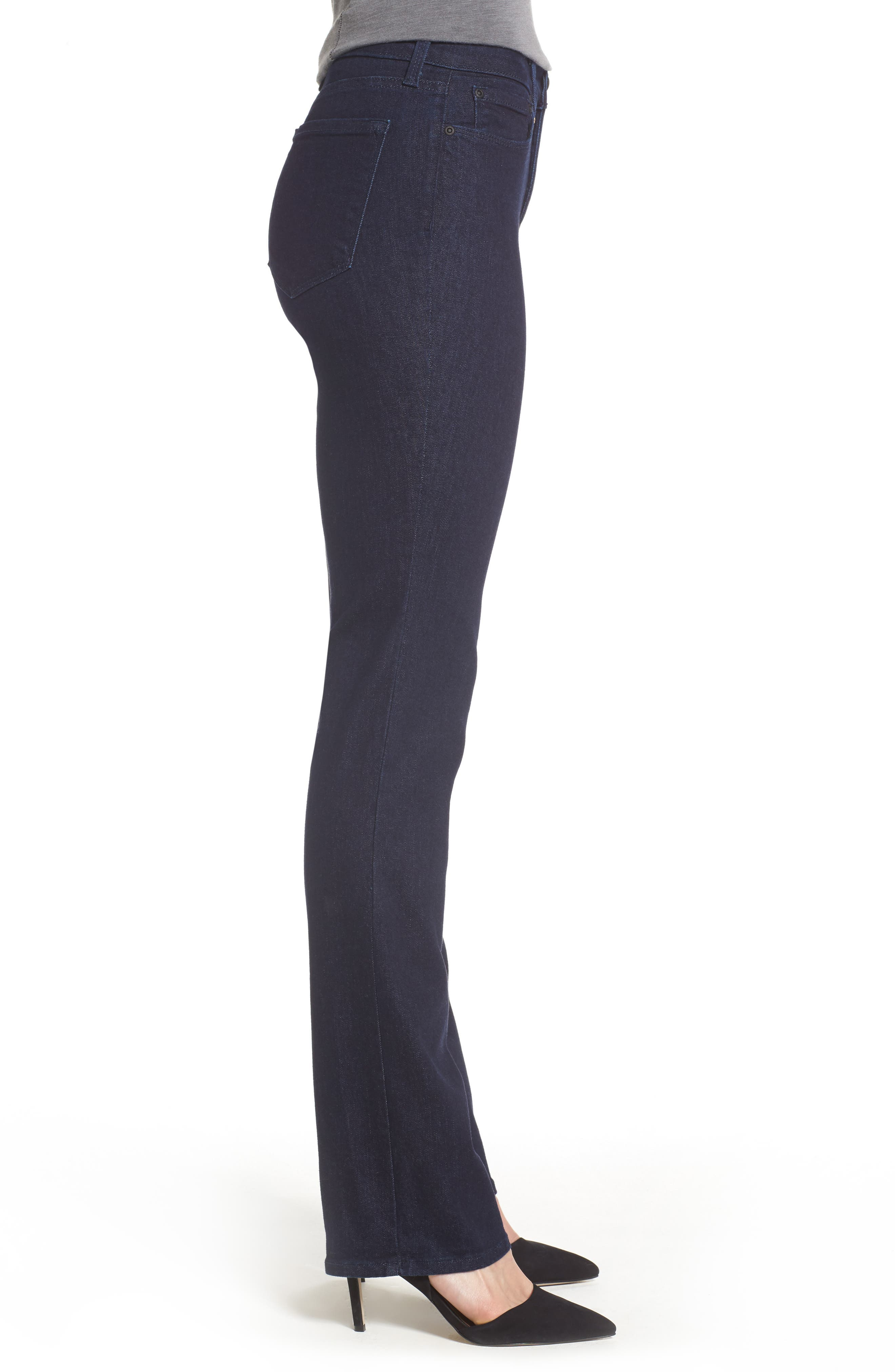 Marilyn Stretch Straight Leg Jeans,                             Alternate thumbnail 3, color,                             Rinse