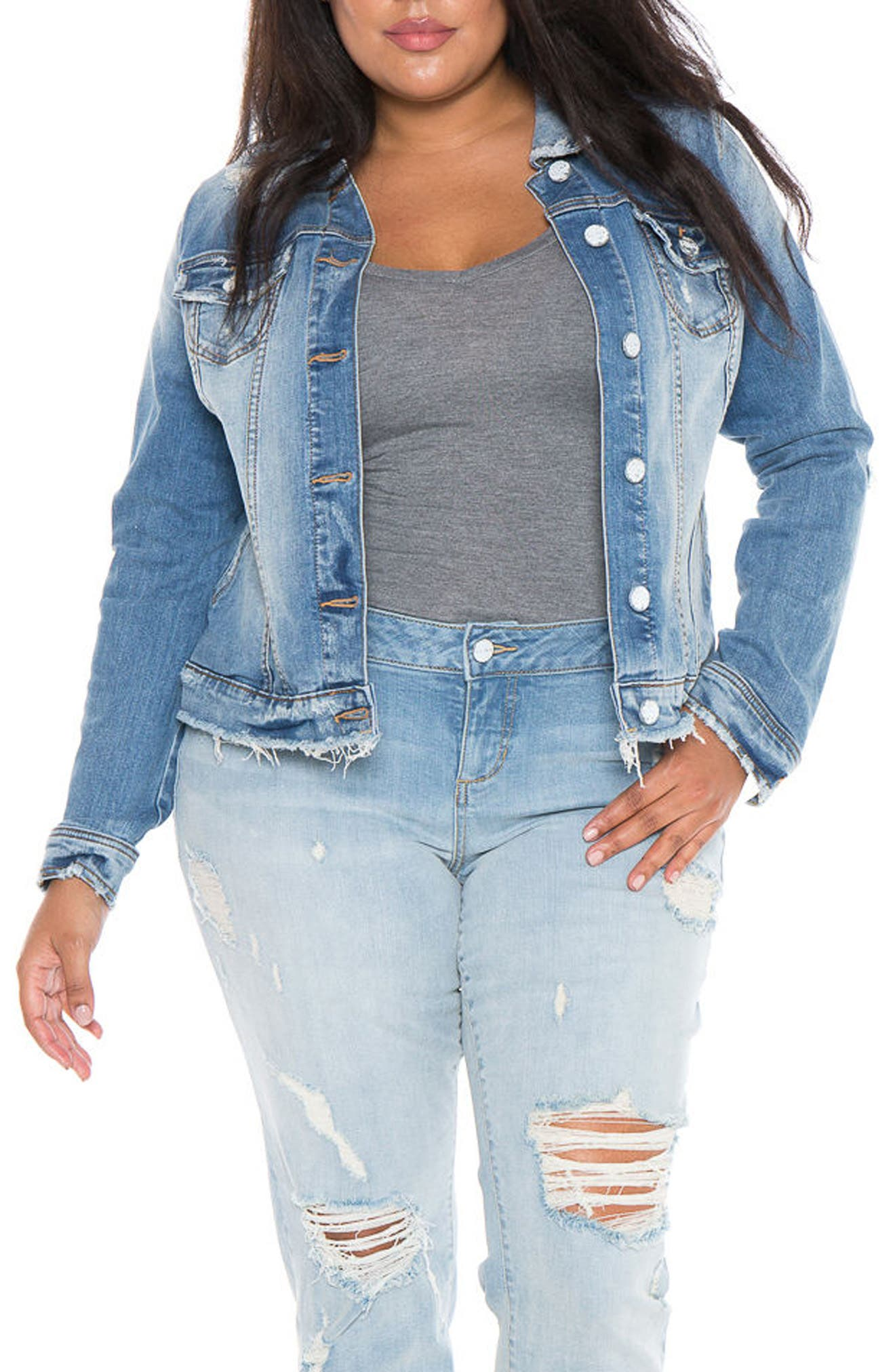 Denim Jacket,                             Alternate thumbnail 4, color,                             Keziah
