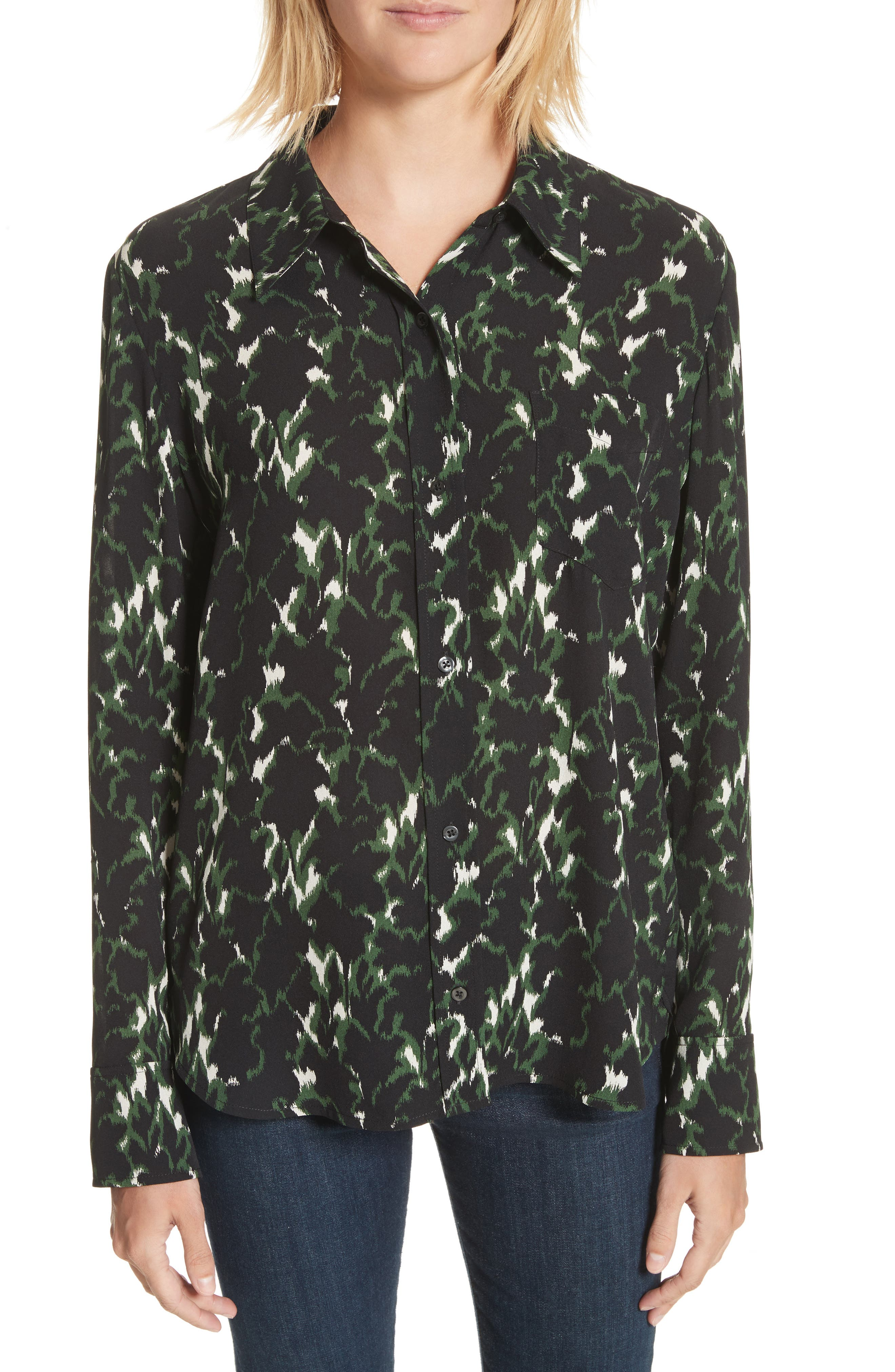 A.L.C. Scott Print Silk Top