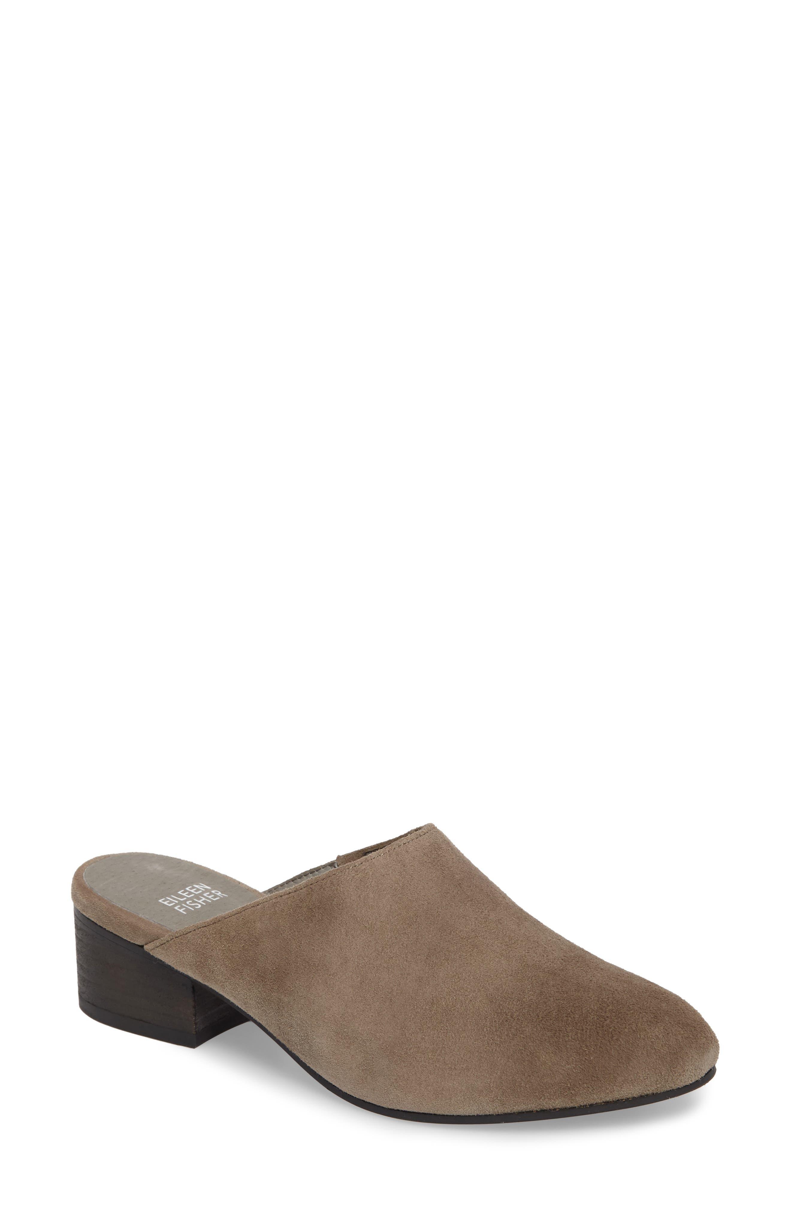 Silvia Mule,                             Main thumbnail 1, color,                             Shadow Suede