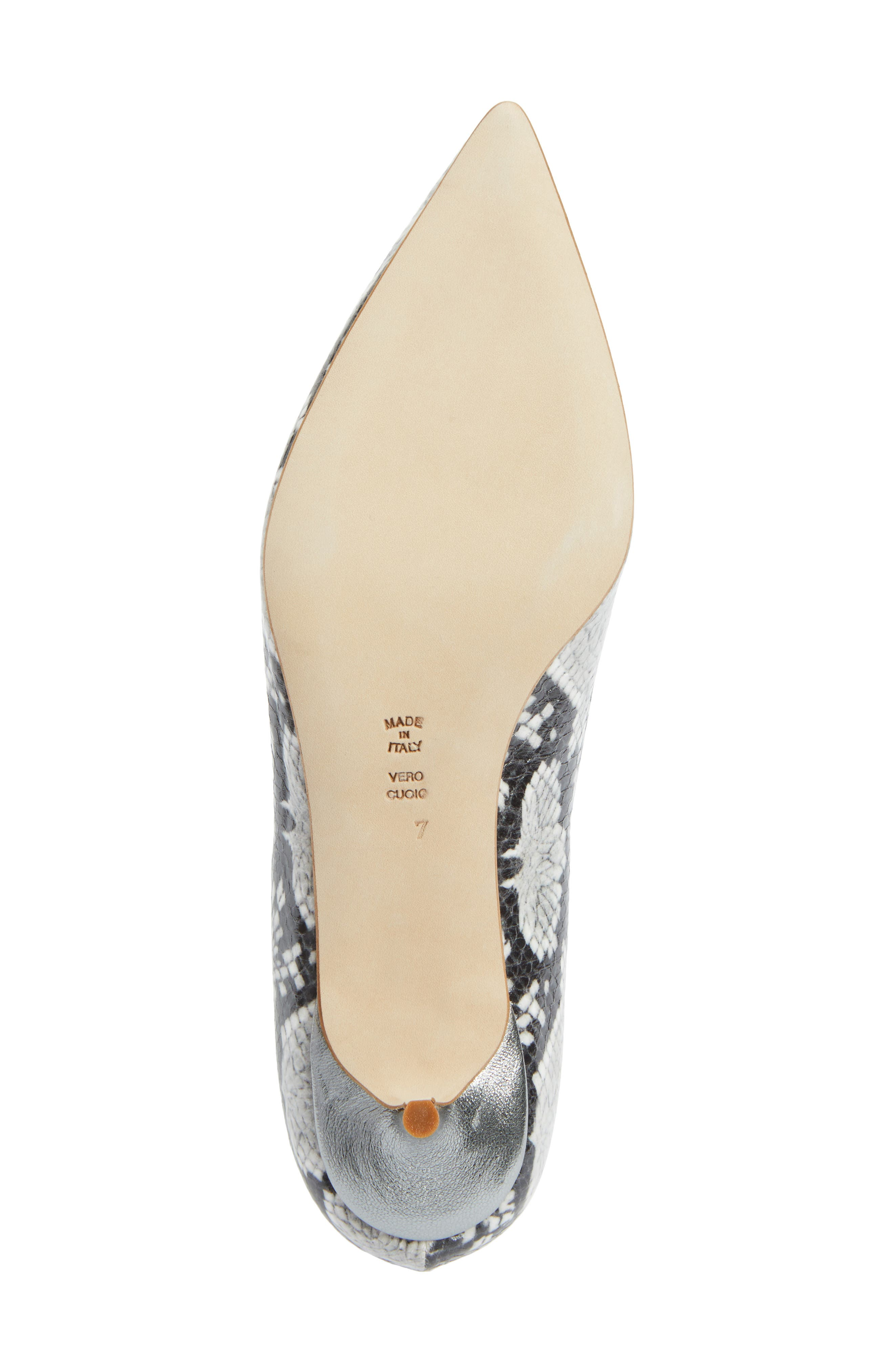 Butter Born Pointy Toe Pump,                             Alternate thumbnail 6, color,                             Black/ White Aztec