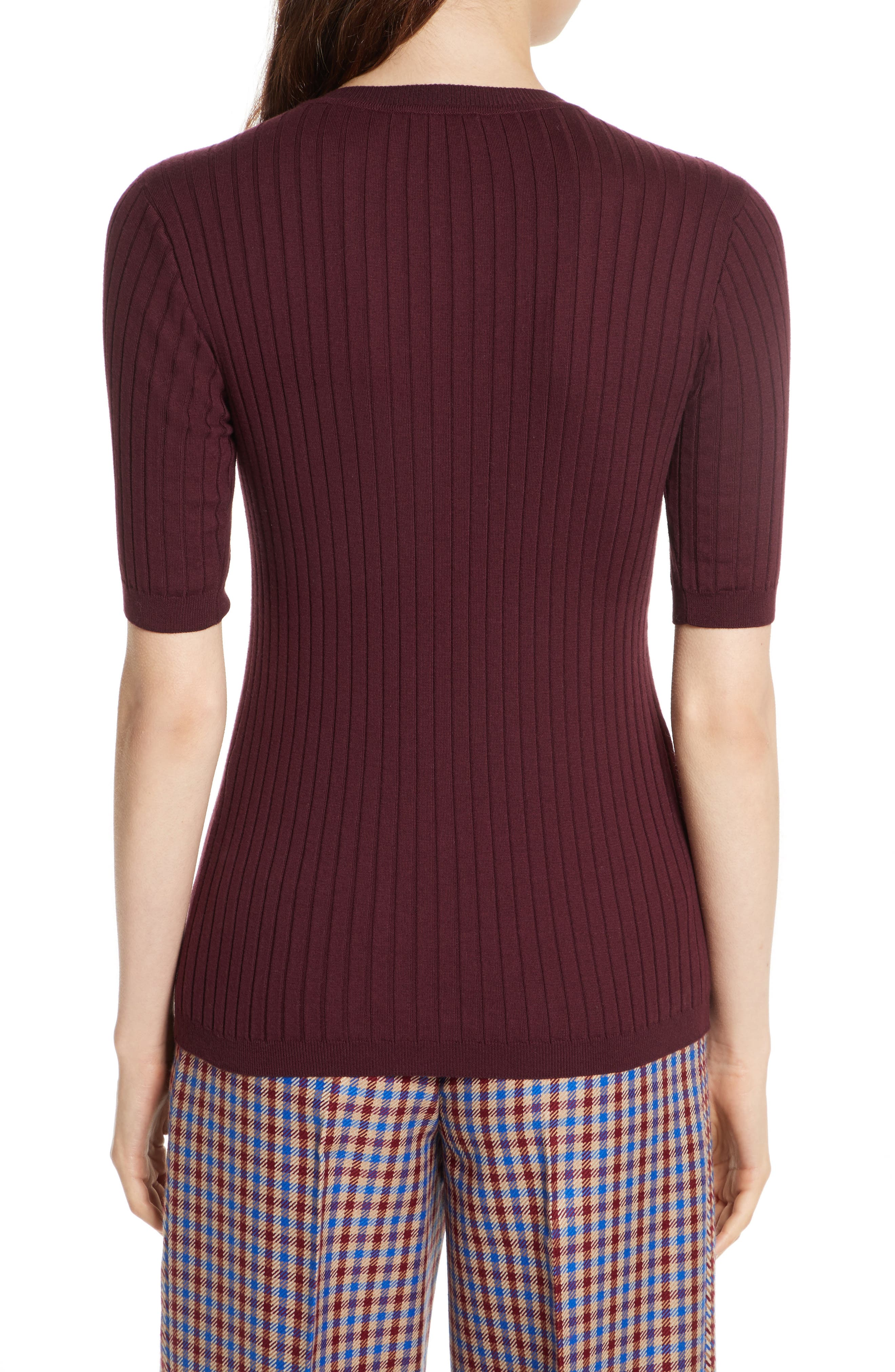 Alternate Image 2  - Tory Burch Ribbed Cotton & Cashmere Henley