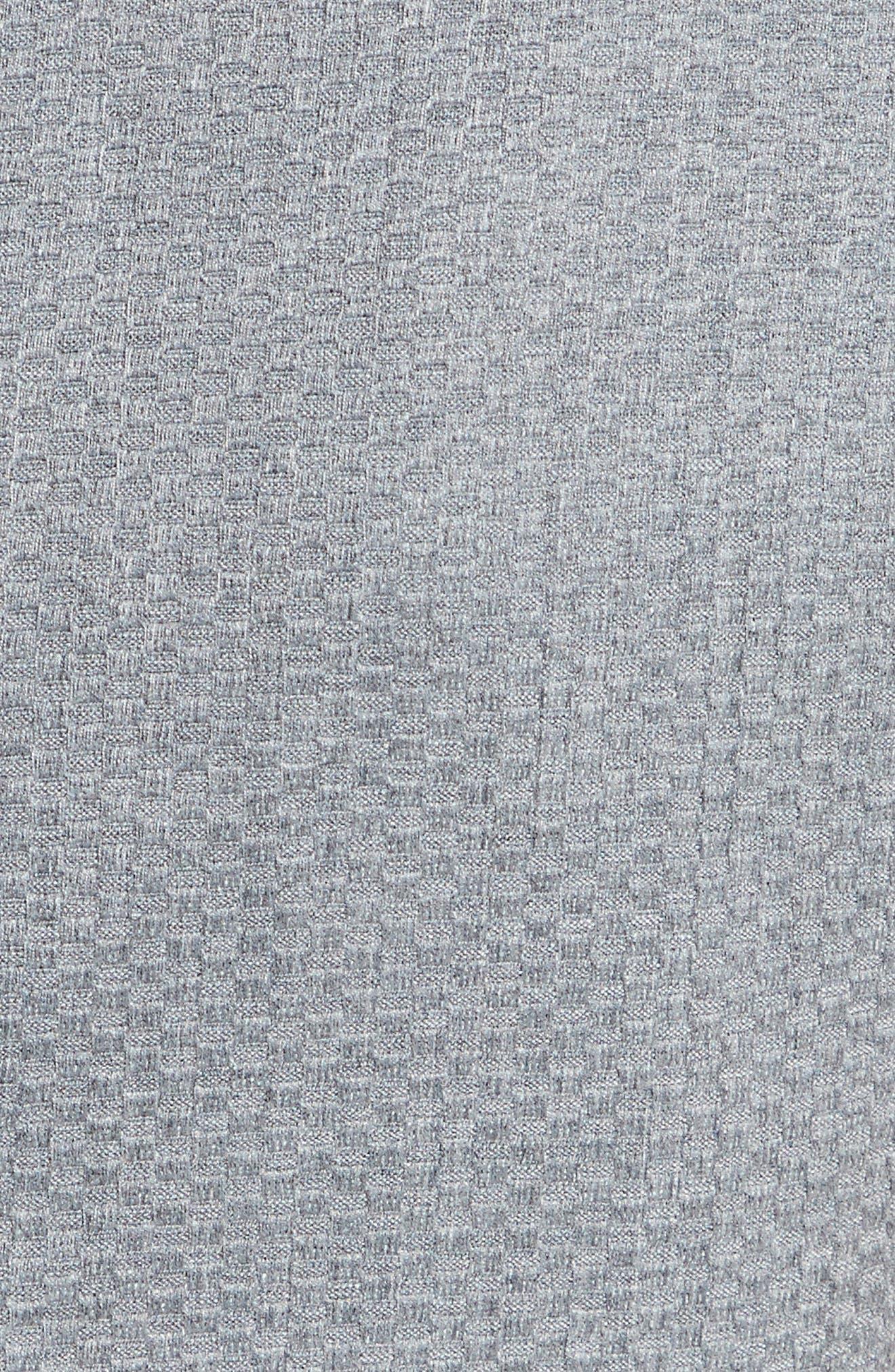 Nadaed Bow Detail Textured Peplum Dress,                             Alternate thumbnail 5, color,                             Mid Grey