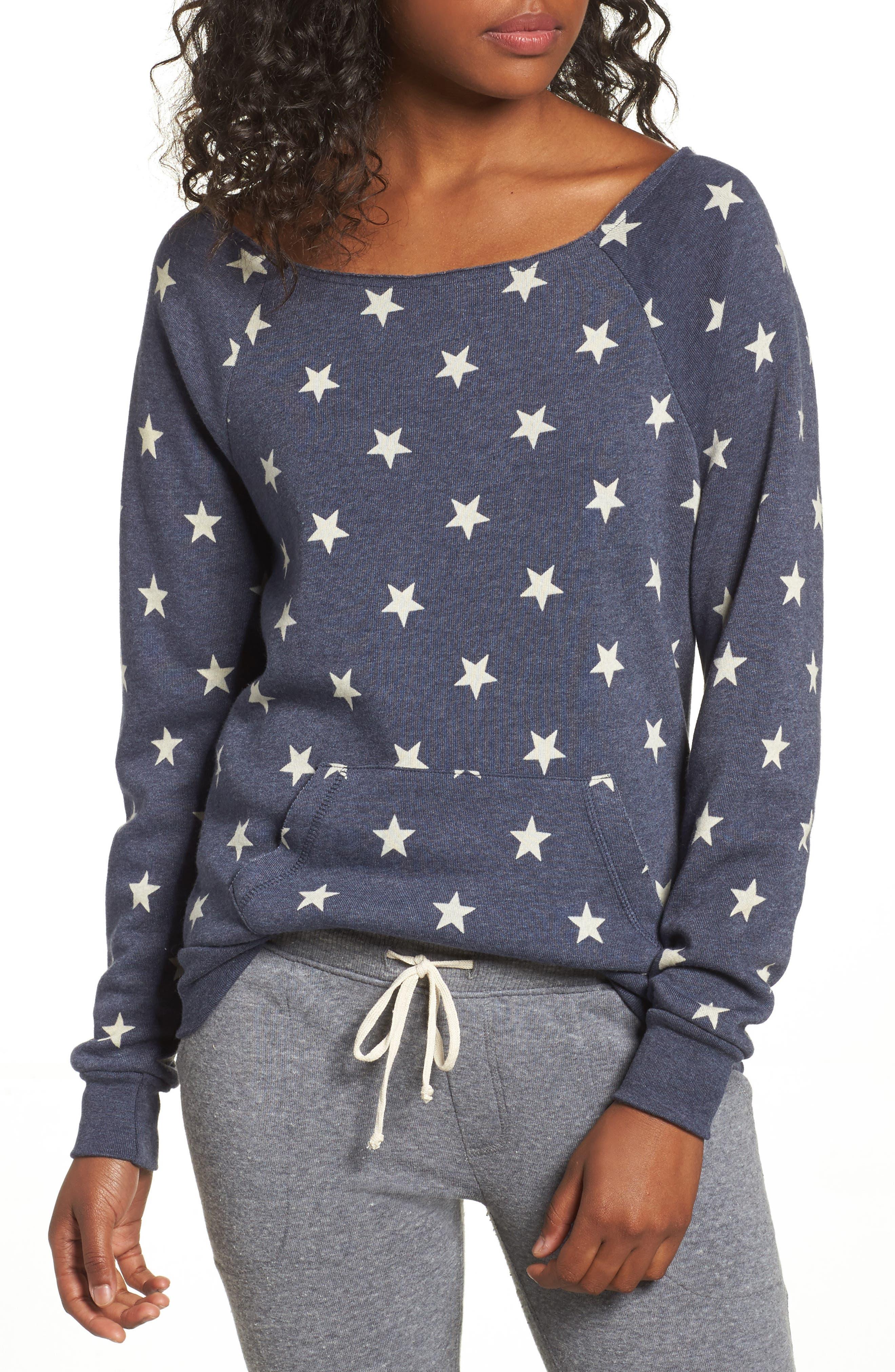 Maniac Camo Fleece Sweatshirt,                             Main thumbnail 1, color,                             Stars