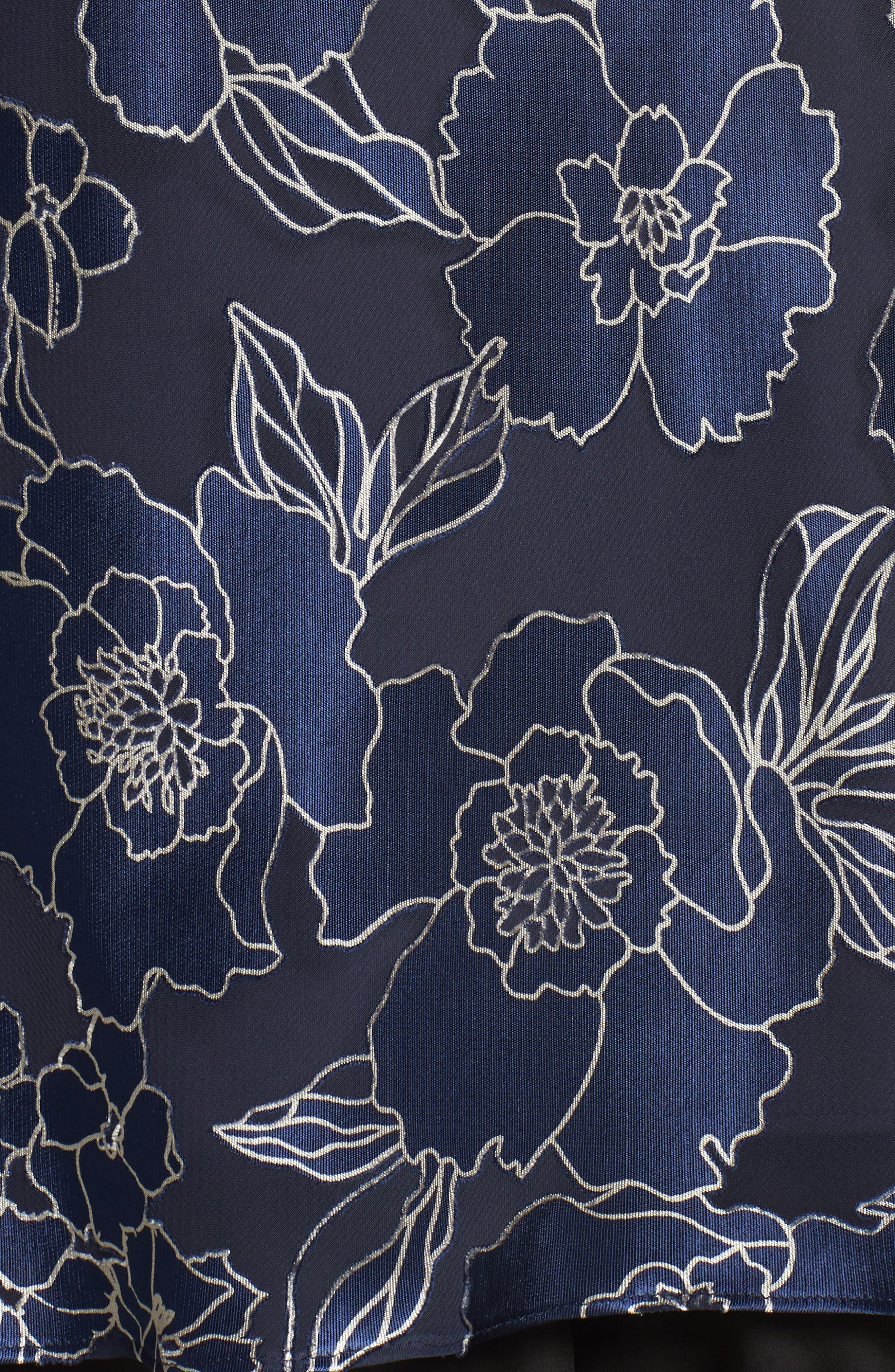 Alternate Image 5  - Alex Evenings Burnout Floral Blouse (Plus Size)