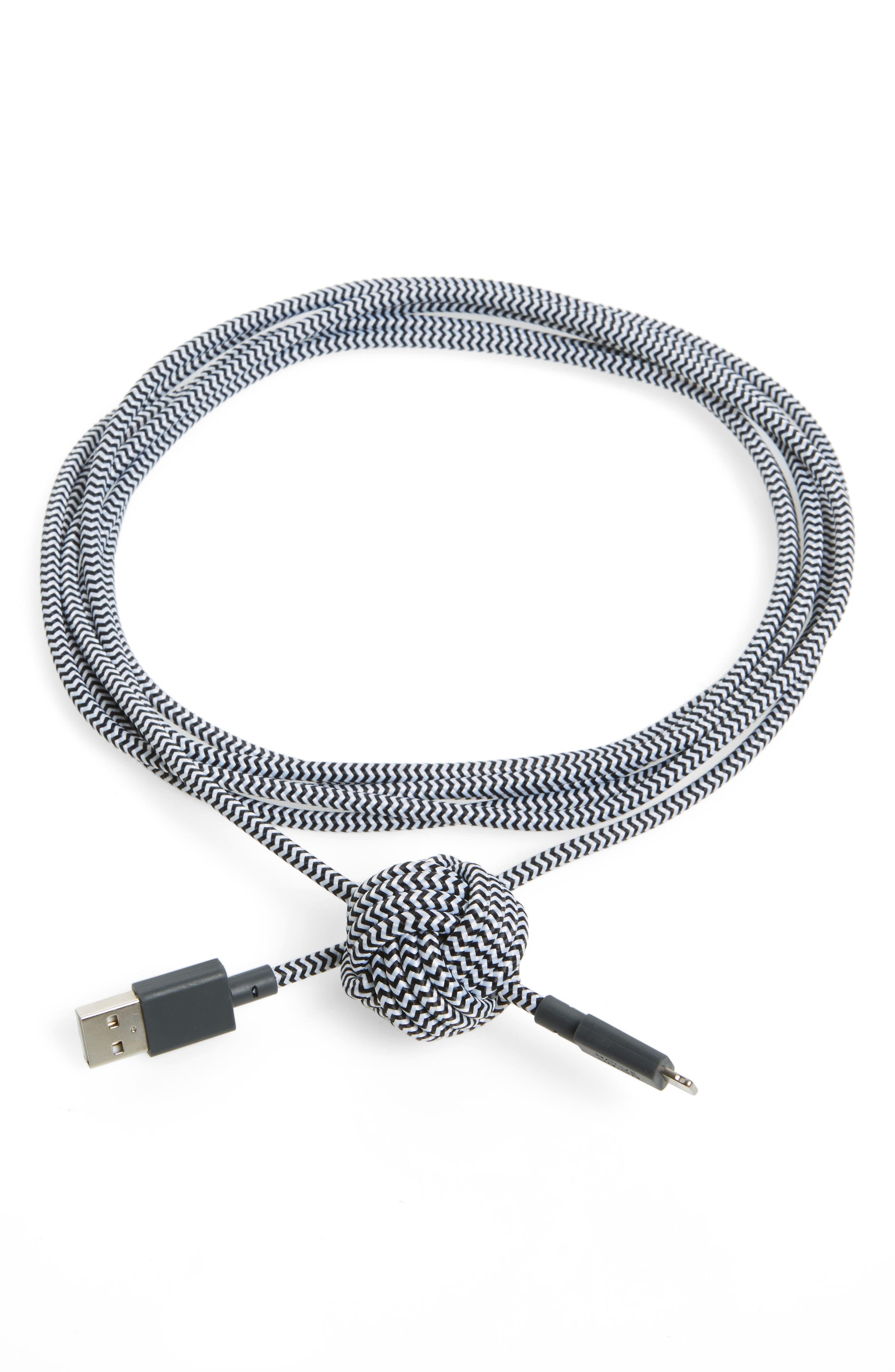 Night Lightning Cable,                             Main thumbnail 1, color,                             Black