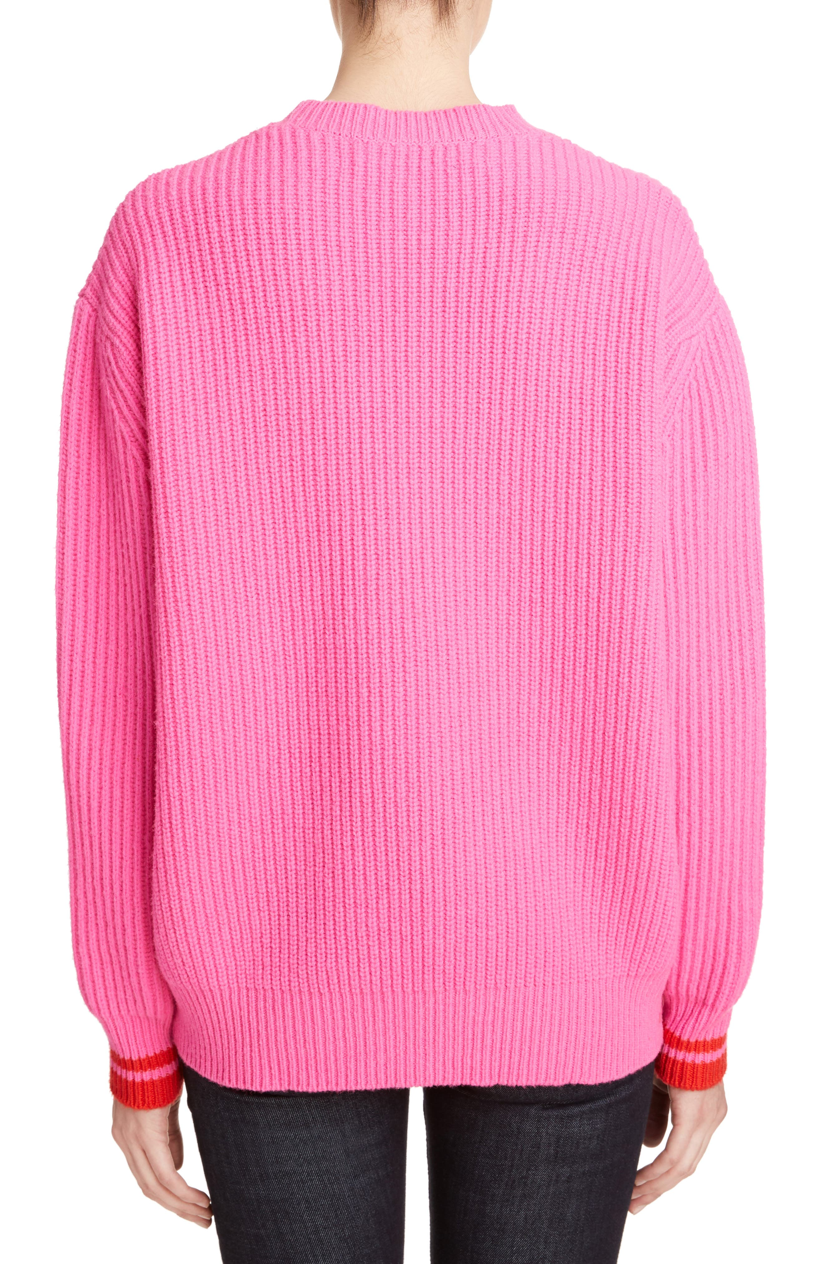 Alternate Image 2  - Victoria, Victoria Beckham Lambswool Boyfriend Sweater