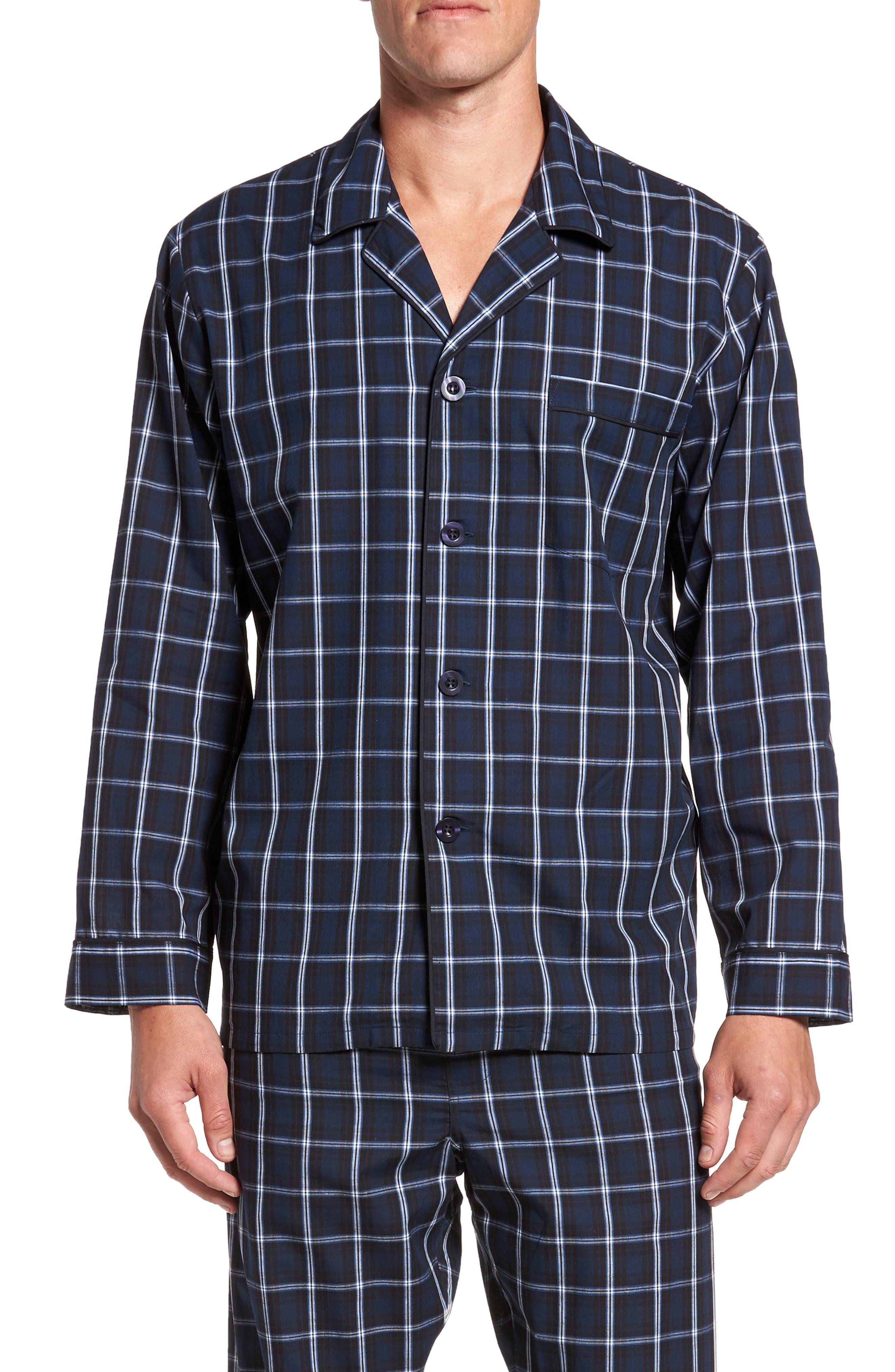 Channing Windowpane Pajama Set,                         Main,                         color, Navy