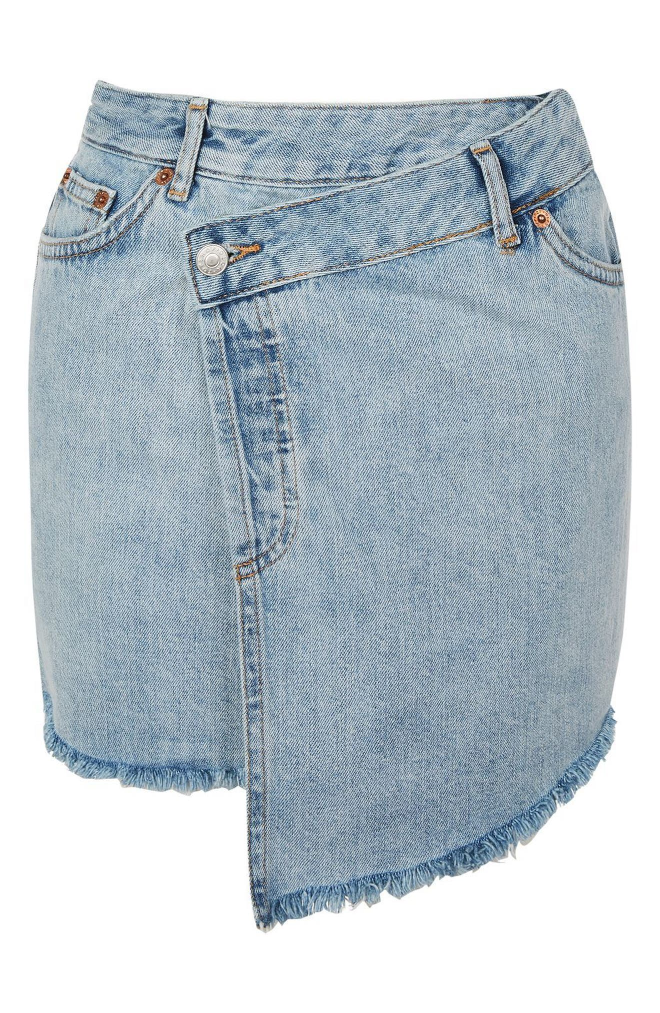 Alternate Image 3  - Topshop Deconstructed Wrap Denim Skirt