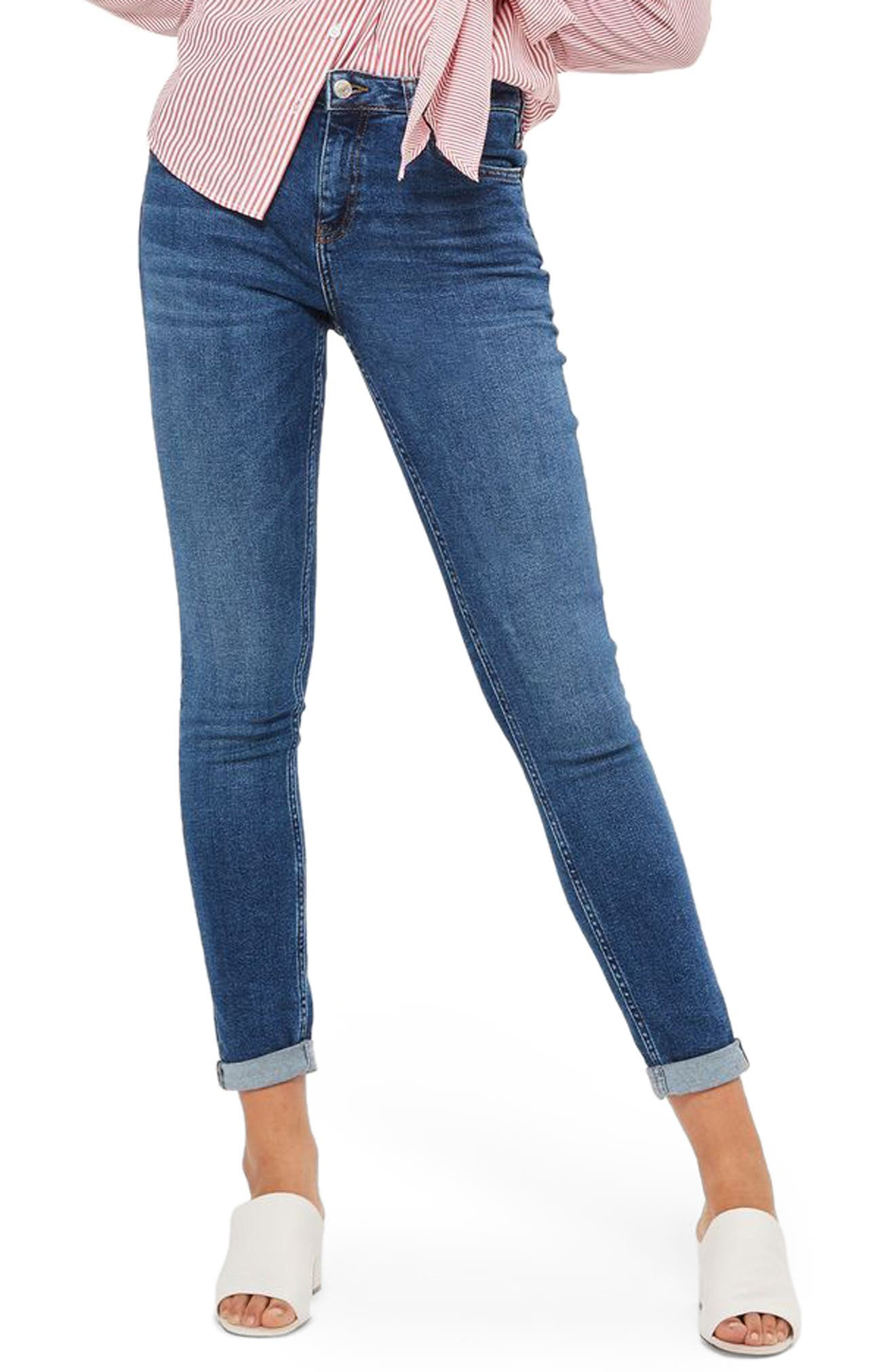 Main Image - Topshop Lucas Relaxed Fit Jeans (Tall)