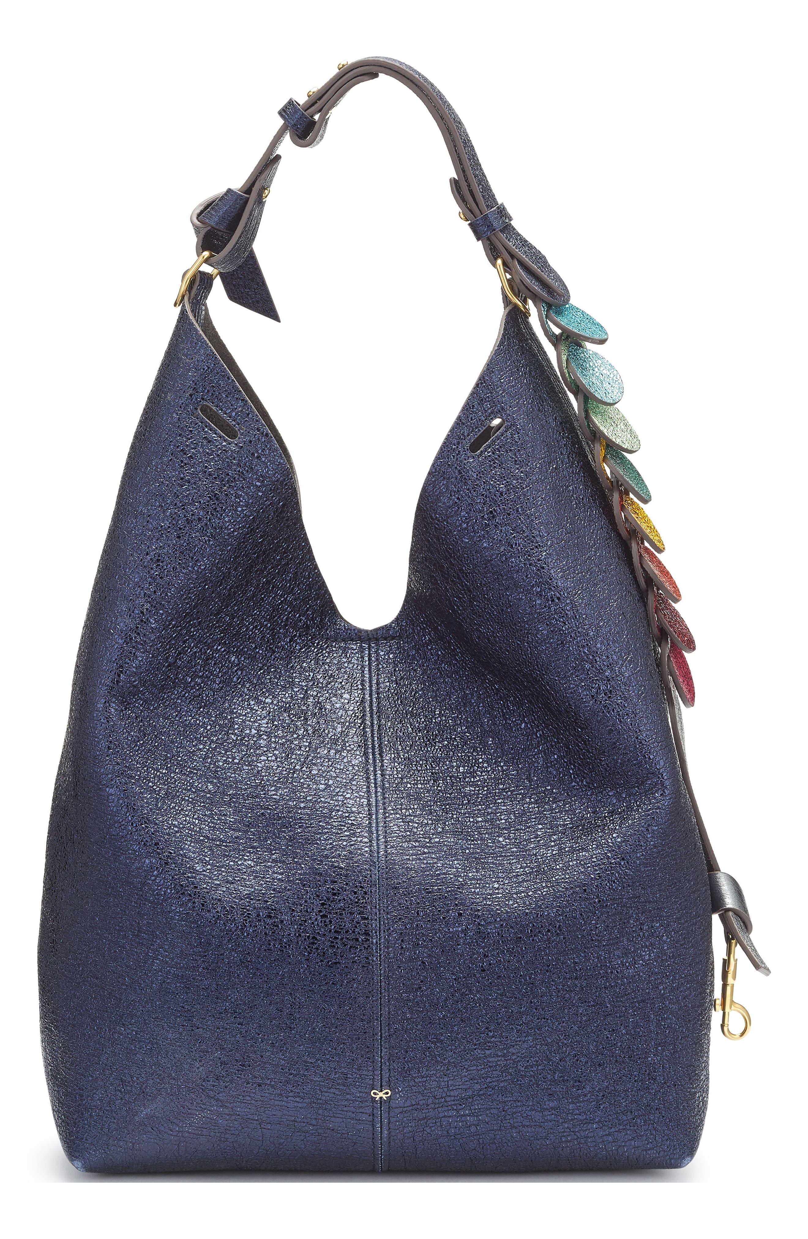anya hindmarch small circles leather bucket bag