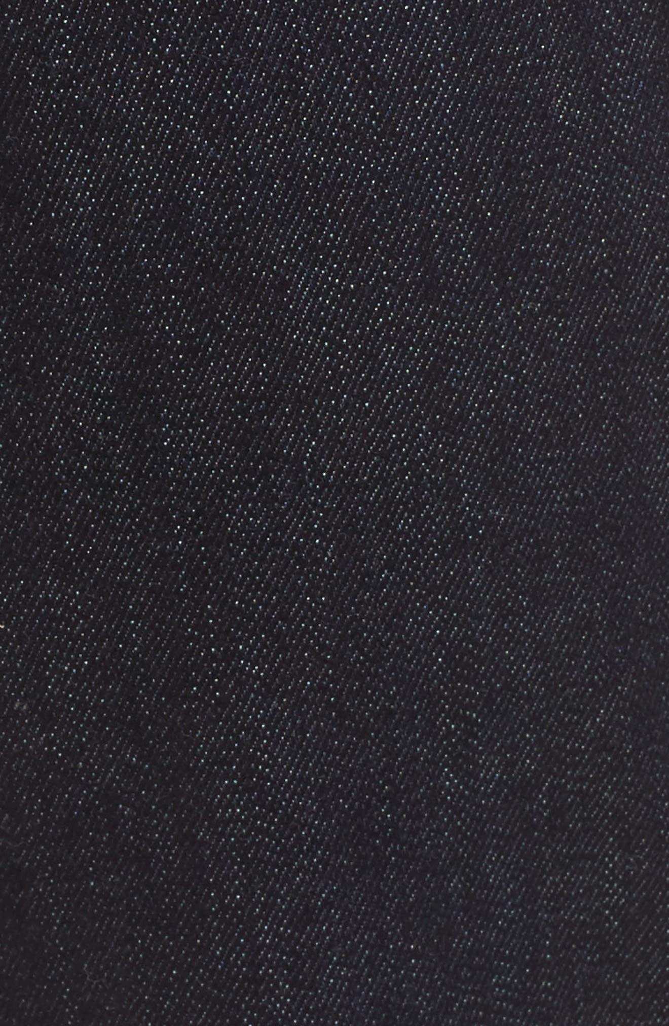 Step Hem Ankle Skinny Jeans,                             Alternate thumbnail 5, color,                             New York Rinse