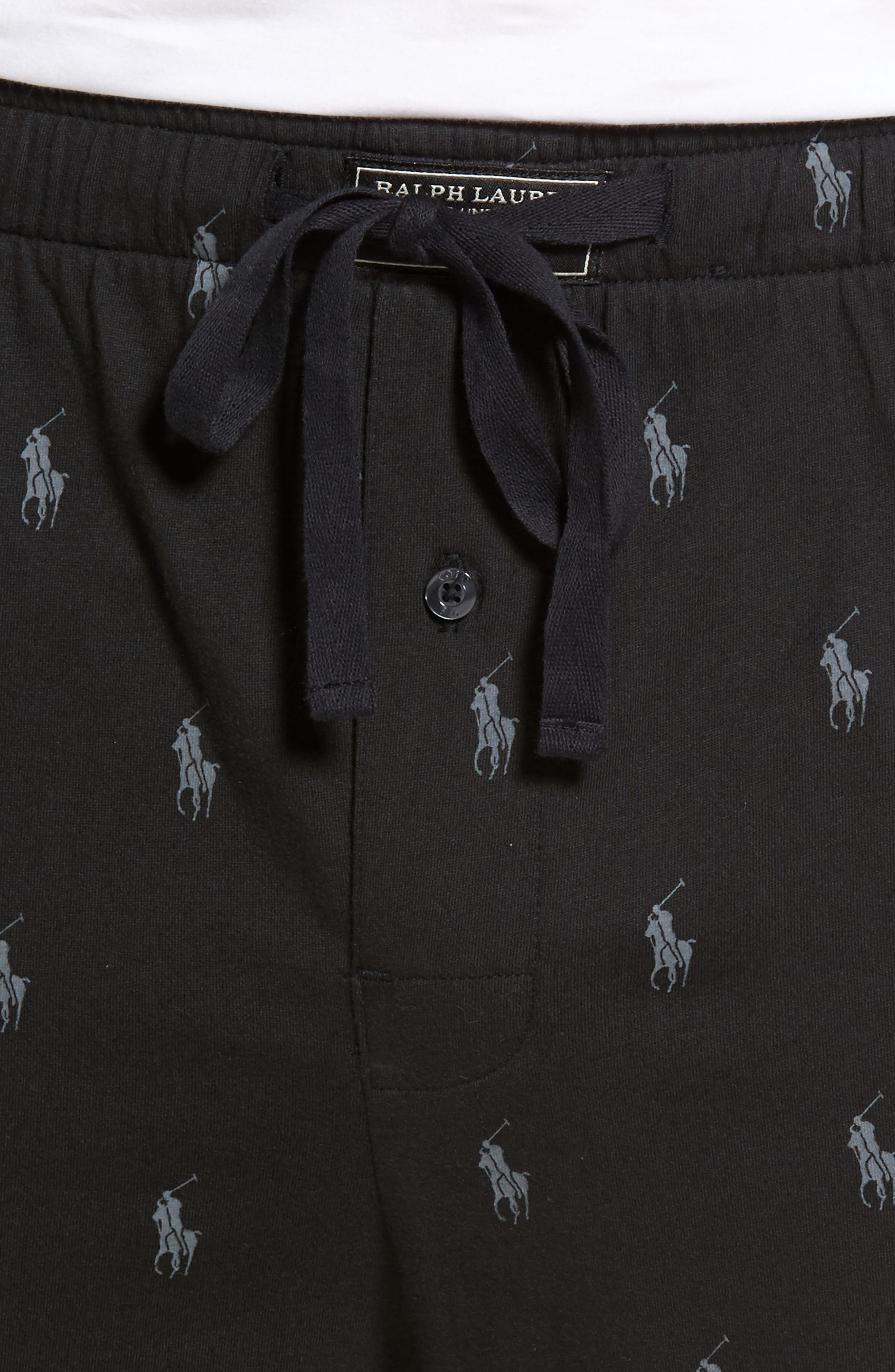Alternate Image 4  - Polo Ralph Lauren Pony Print Lounge Pants