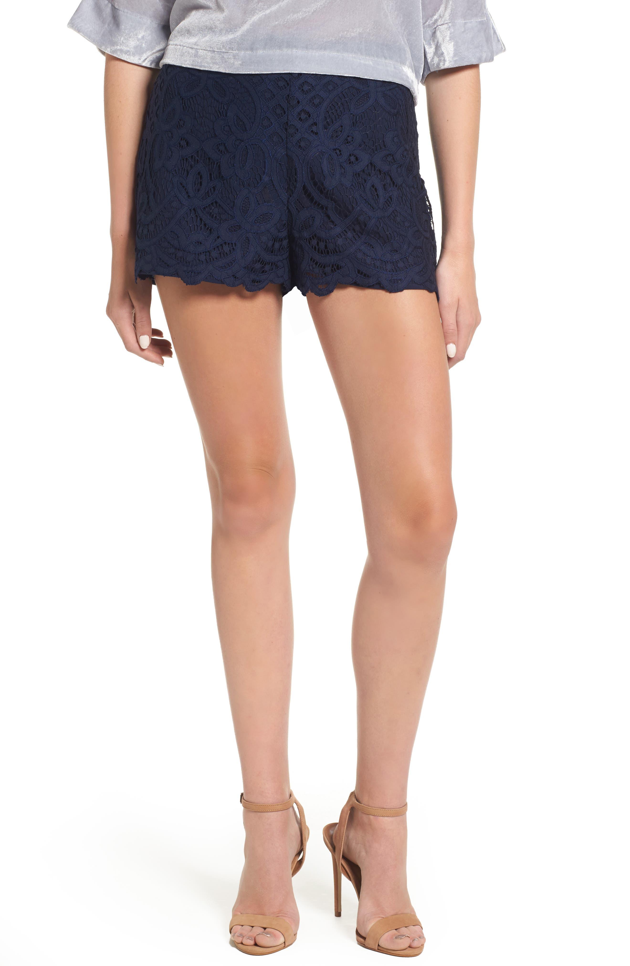 Jennifer Lace Shorts,                         Main,                         color, Ink