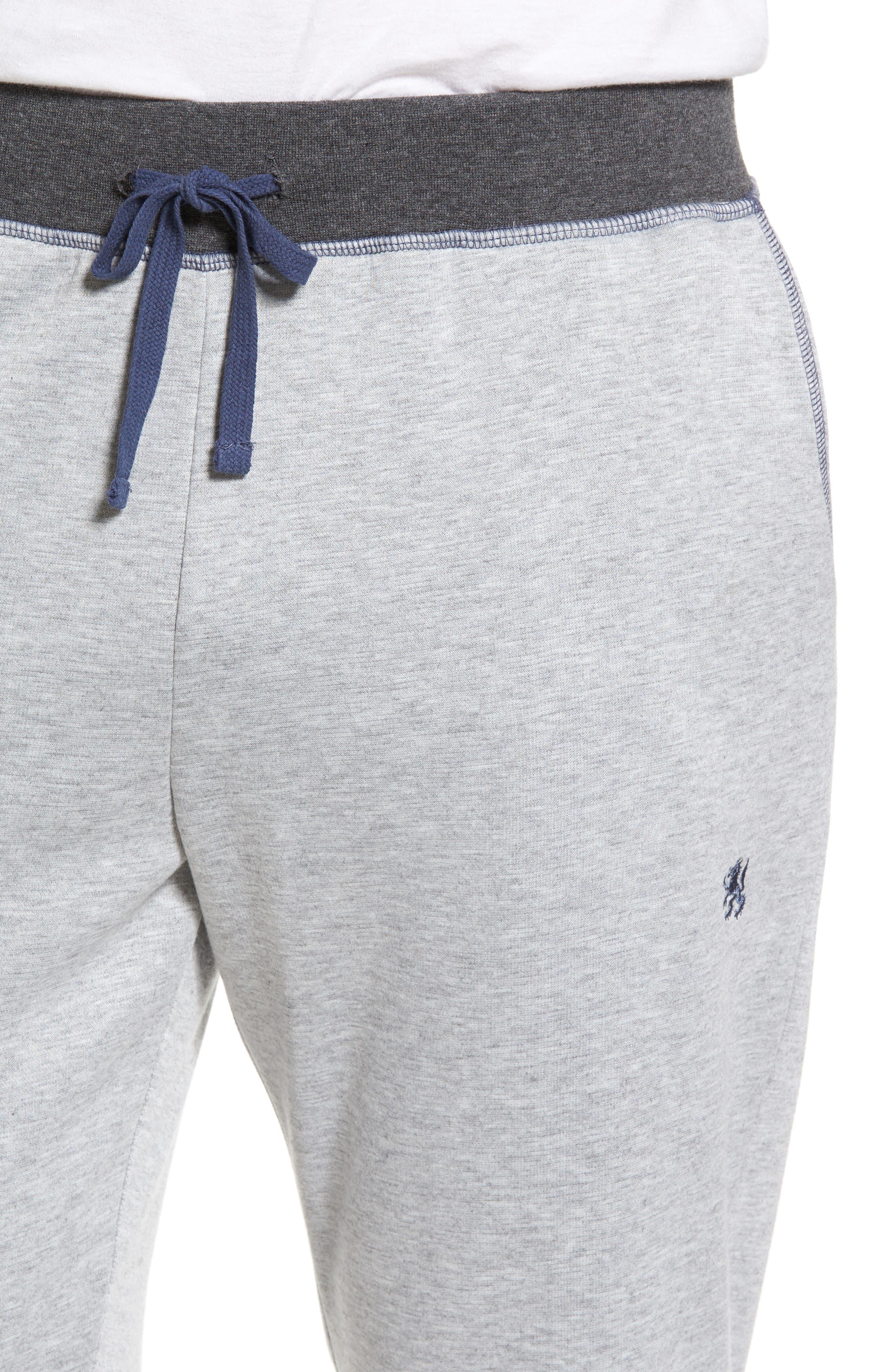 Double Take Knit Lounge Pants,                             Alternate thumbnail 4, color,                             Grey
