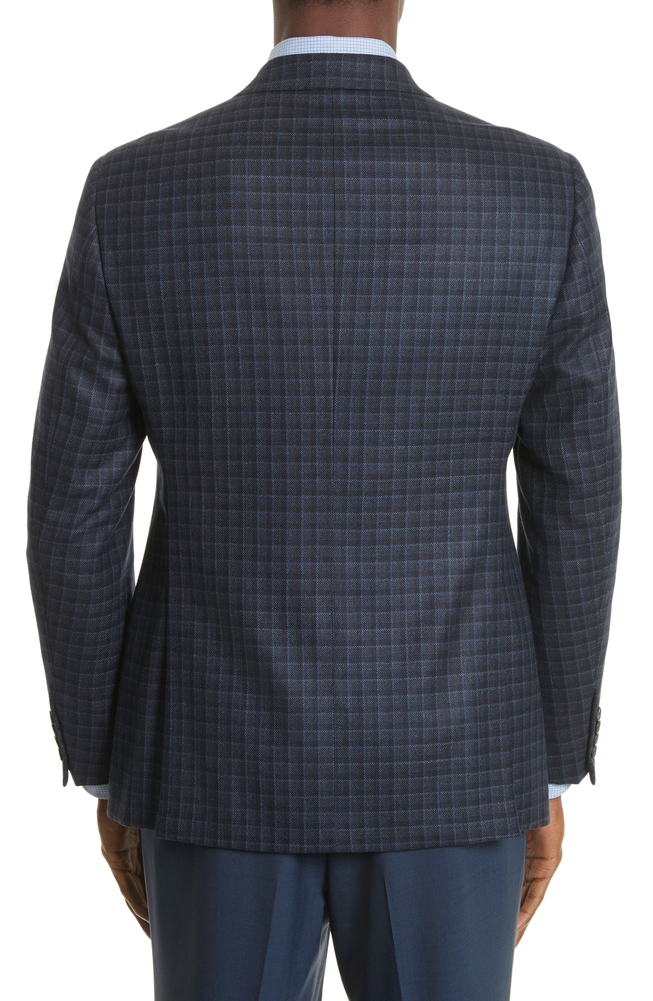 Alternate Image 2  - Armani Collezioni G-Line Trim Fit Check Silk & Wool Sport Coat