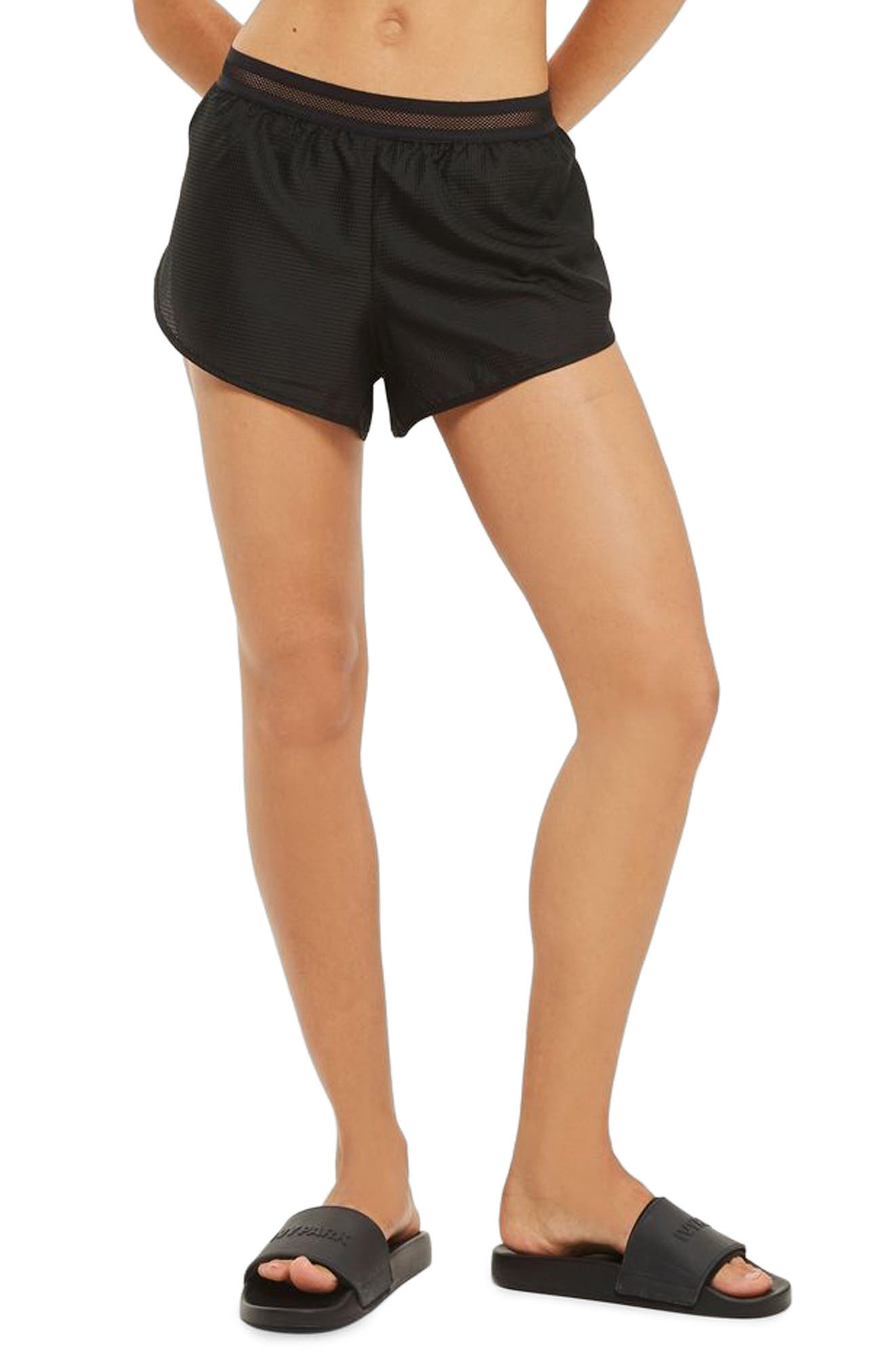 Alternate Image 1 Selected - IVY PARK® Logo Perforated Runner Shorts