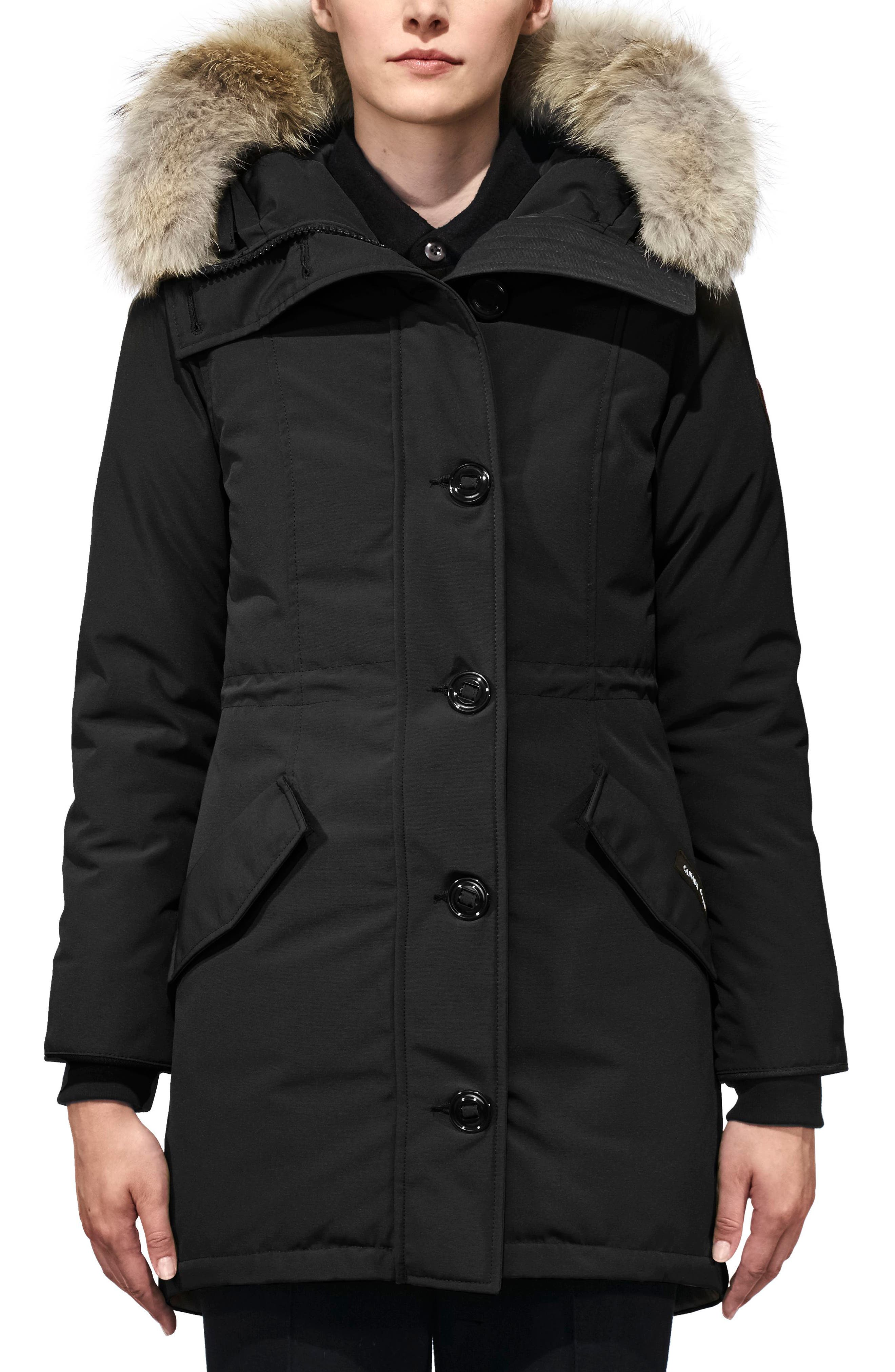 Alternate Image 1 Selected - Canada Goose Rossclair Fusion Fit Genuine Coyote Fur Trim Down Parka